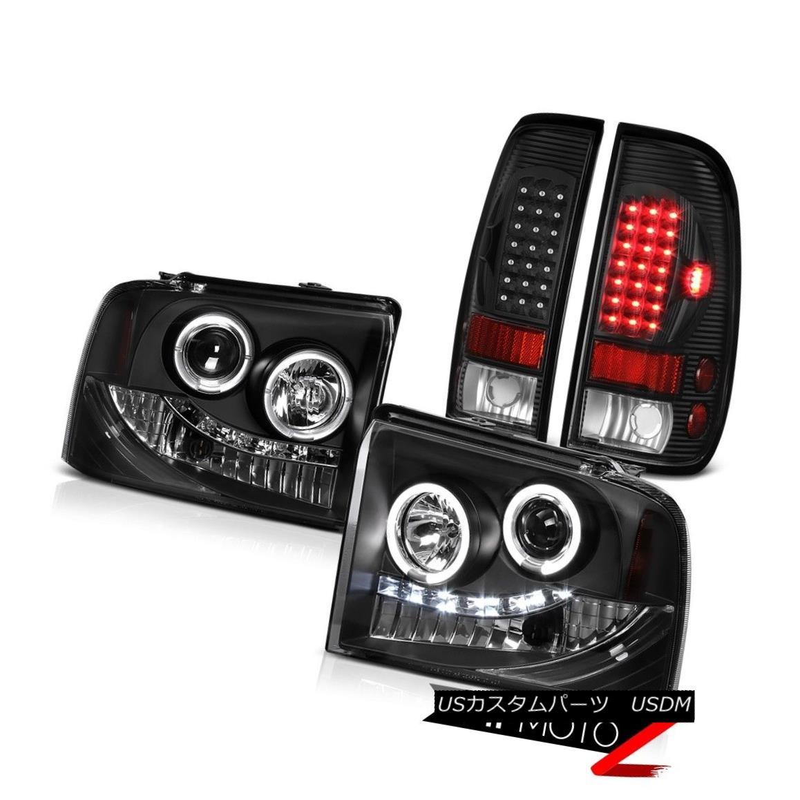 テールライト SMD Halo Projector Headlight+LED Bulbs Tail Lamp Ford F350 Lariat 2005 2006 2007 SMD Haloプロジェクターヘッドライト+ LED電球テールランプF350 Lariat 2005 2006 2007
