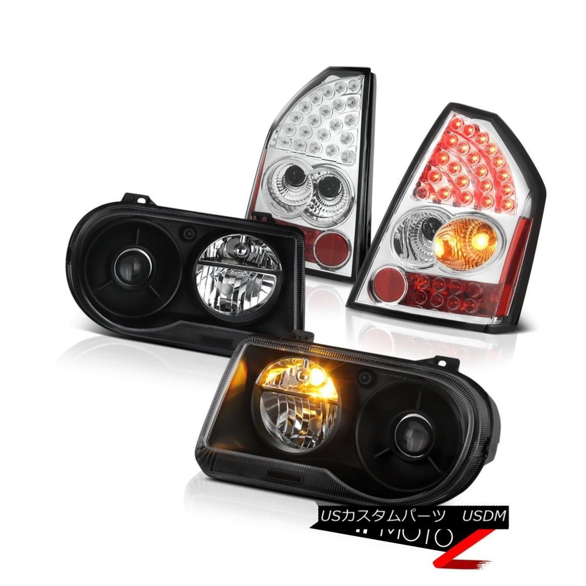 テールライト 2005 2006 2007 Chrysler 300C 6.1L Matte Black Headlights LED Taillamps Chrome 2005 2006 2007 Chrysler 300C 6.1LマットブラックヘッドライトLEDタイルランプクローム