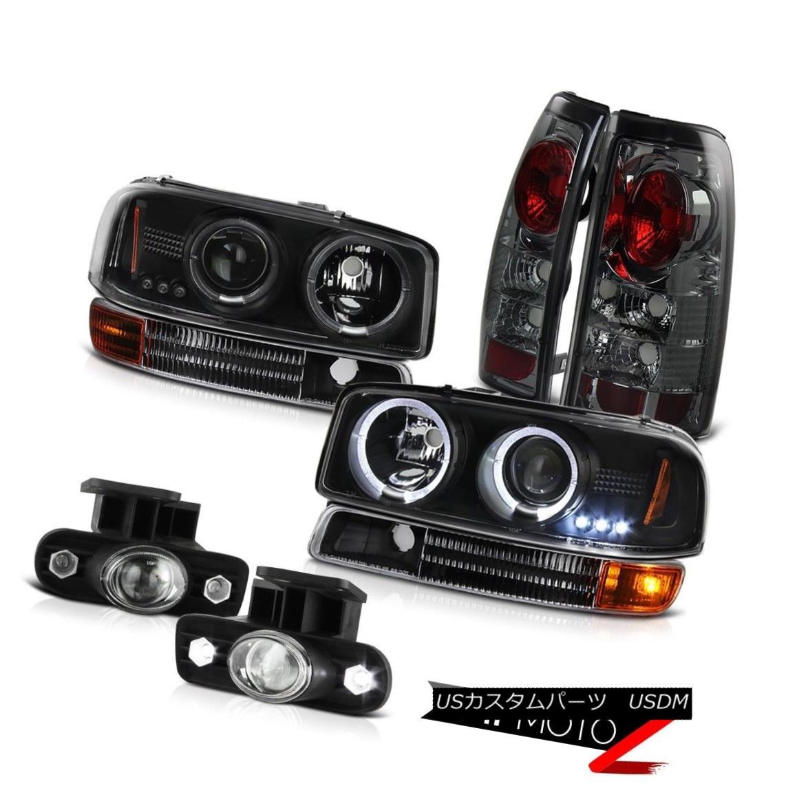 テールライト 99-03 Sierra 5.3L Black Halo LED Headlights Brake Lamp Tail Projector Bumper Fog 99-03 Sierra 5.3LブラックハローLEDヘッドライトブレーキランプテールプロジェクターバンパーフォグ