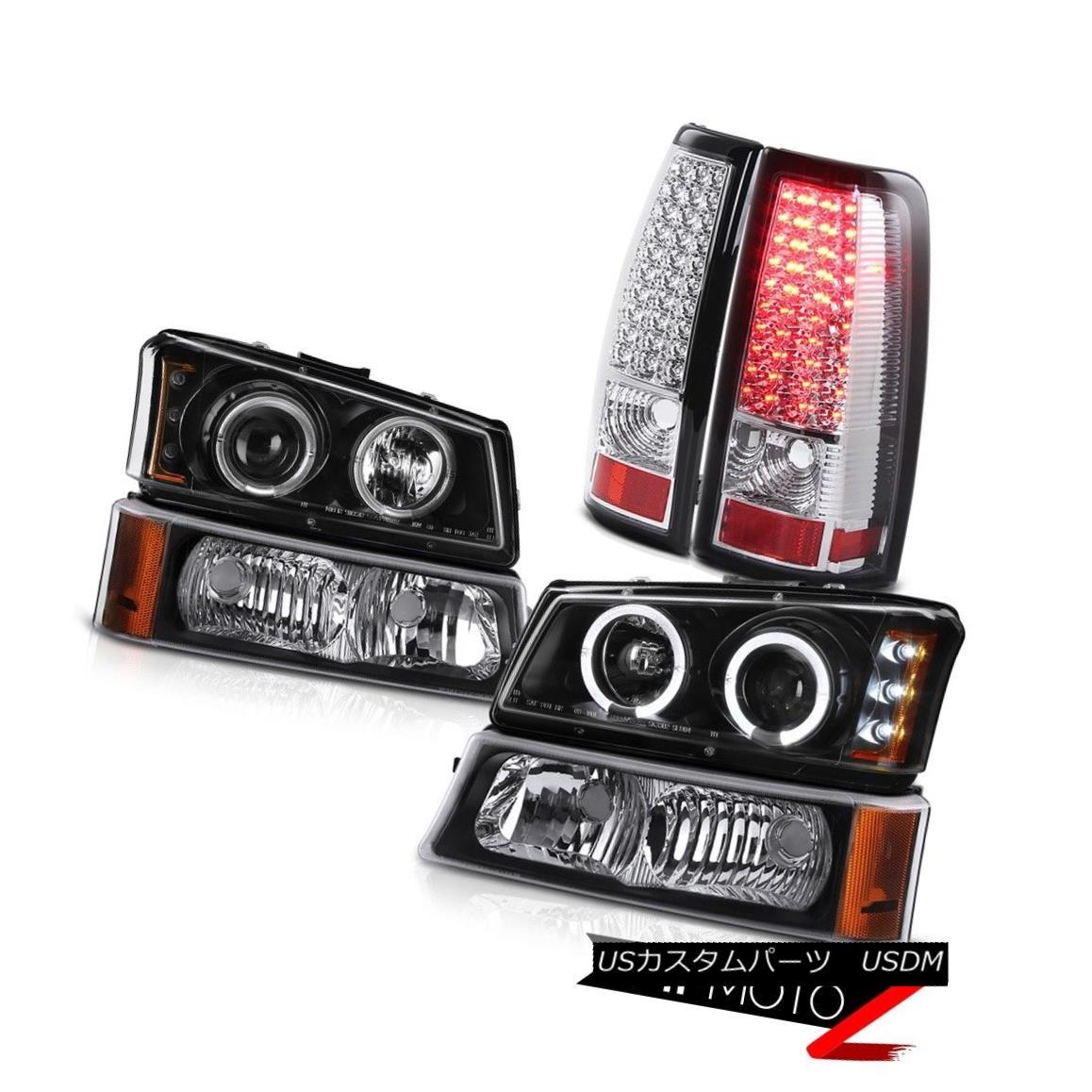 テールライト Projector Black Headlight Bumper BRIGHT LED Tail Lights 03 04 05 06 Silverado SS プロジェクターブラックヘッドライトバンパーBRIGHT LEDテールライト03 04 05 06シルバラードSS