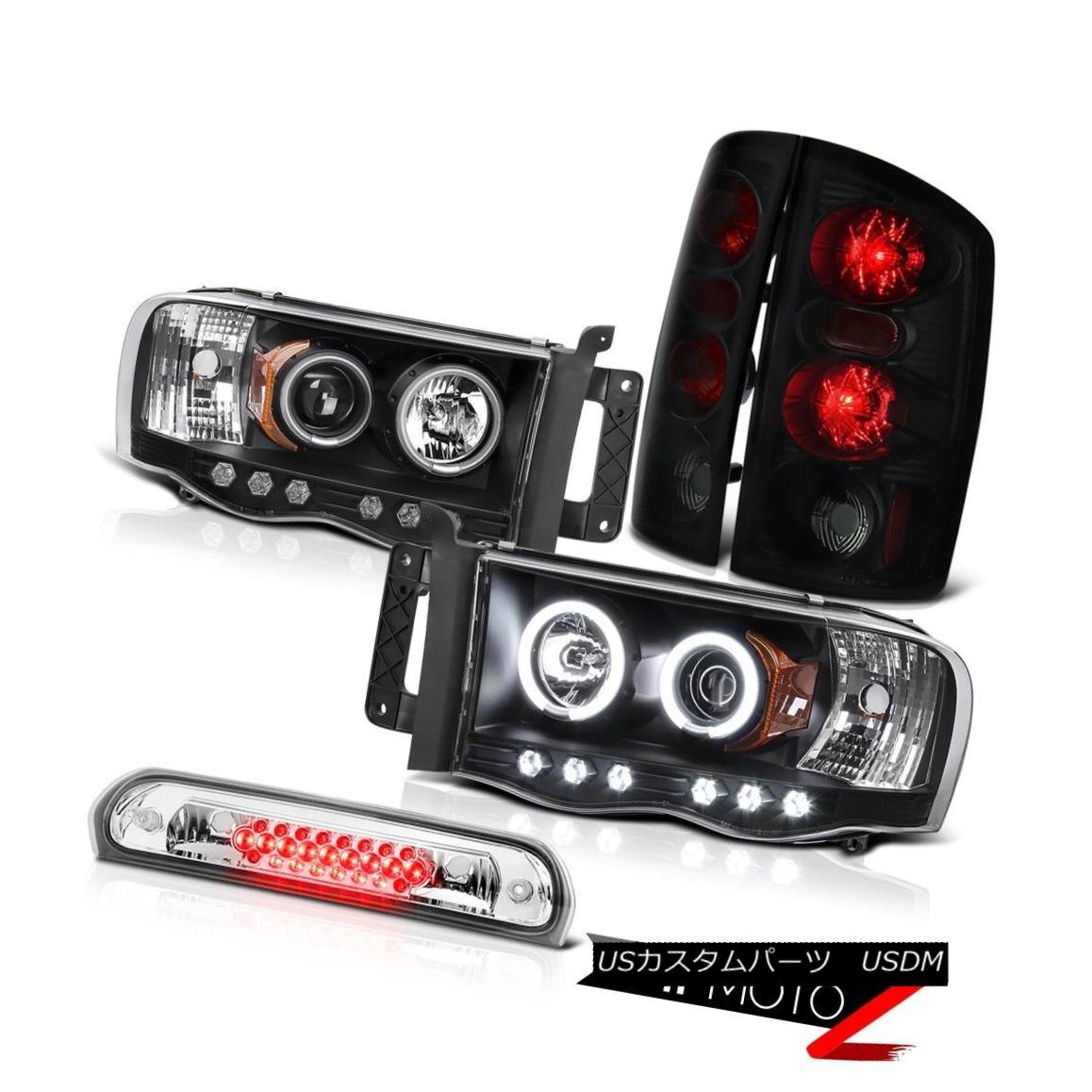 テールライト 2X Black CCFL Projector Smoke Tail Lamps Euro Third Brake LED 02-05 Dodge Ram 2XブラックCCFLプロジェクター煙テールランプユーロ第3ブレーキLED 02-05 Dodge Ram