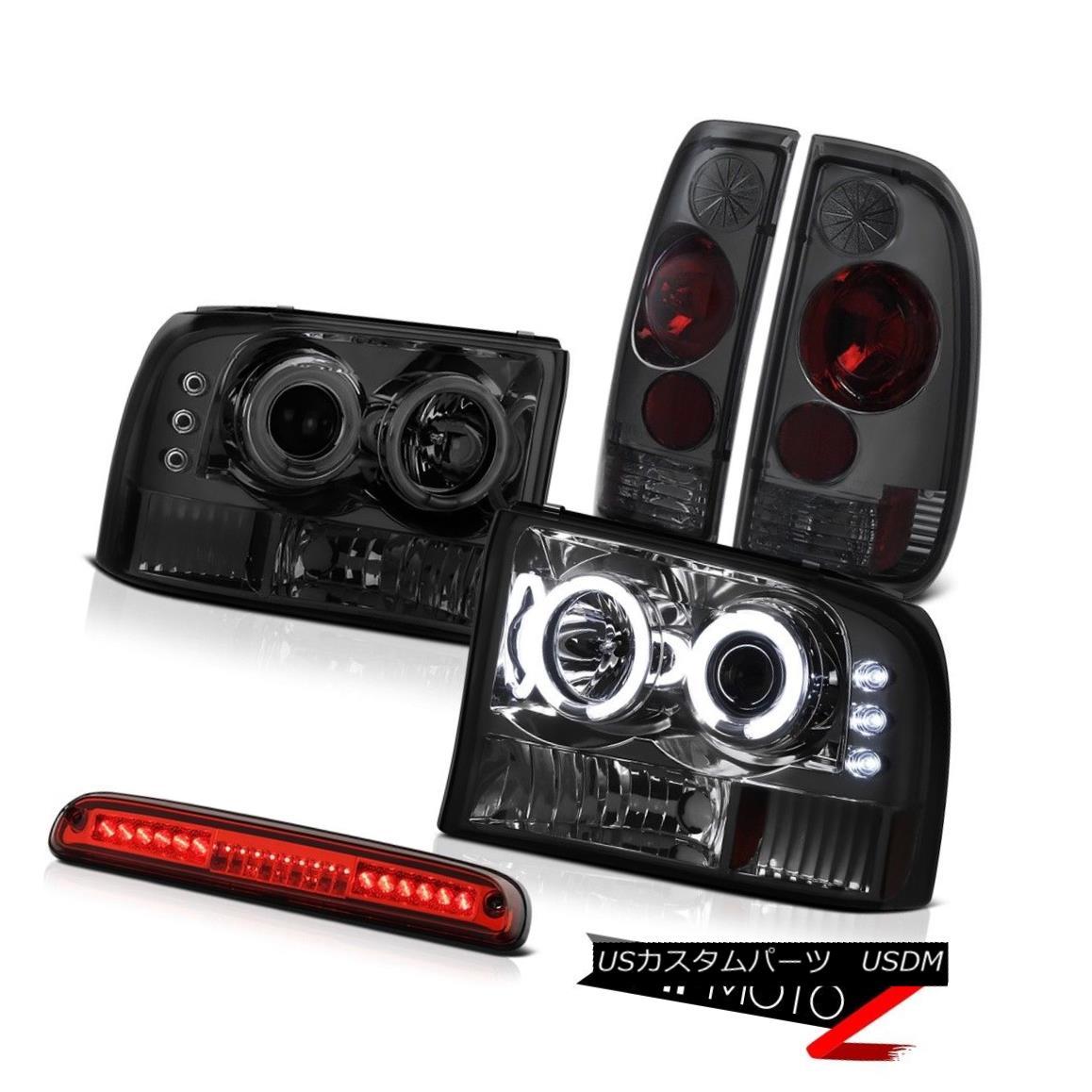テールライト 99-04 F350 XL Projector CCFL RingHeadlamps Rear Signal TailLight Brake LED Red 99-04 F350 XLプロジェクターCCFLリングヘッドランプリアシグナルテールライトブレーキLEDレッド