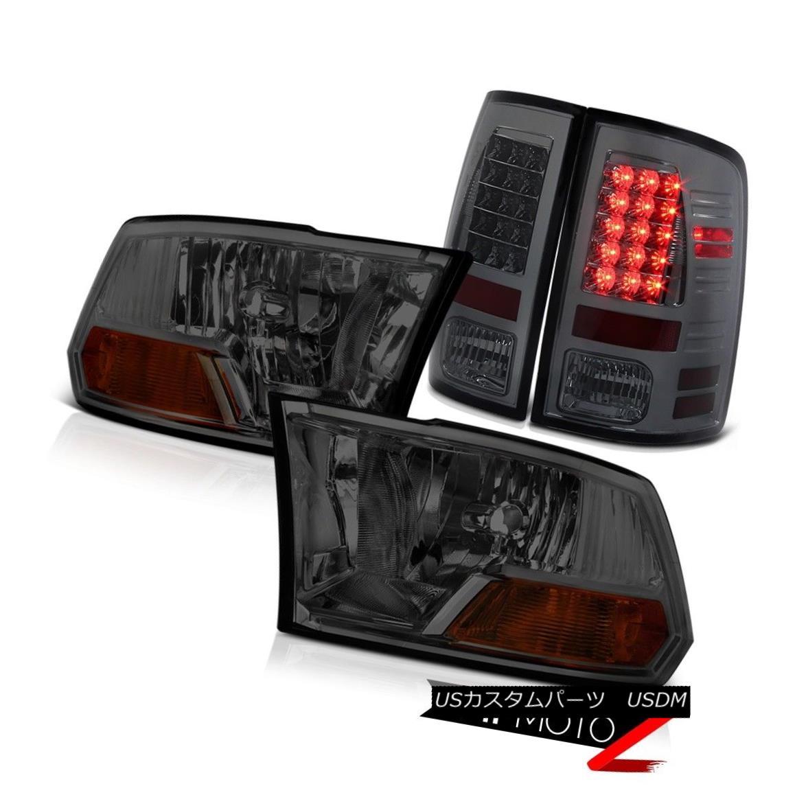 テールライト ERROR FREE SMOKE LED Taillight Headlight 2009-2018 Dodge Ram 2013 2012 2011 2010 エラーフリーSMOKE LEDテールライトヘッドライト2009-2018 Dodge Ram 2013 2012 2011 2010