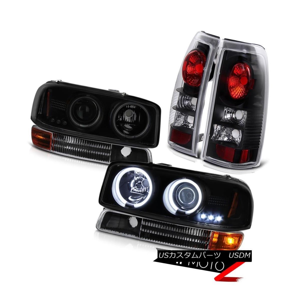 テールライト 1999-2003 Sierra CCFL Smoke Black Angel Eye Headlamp Parking Reverse Tail Light 1999-2003シエラCCFLスモークブラックエンジェルアイヘッドランプパーキングリバーステールライト