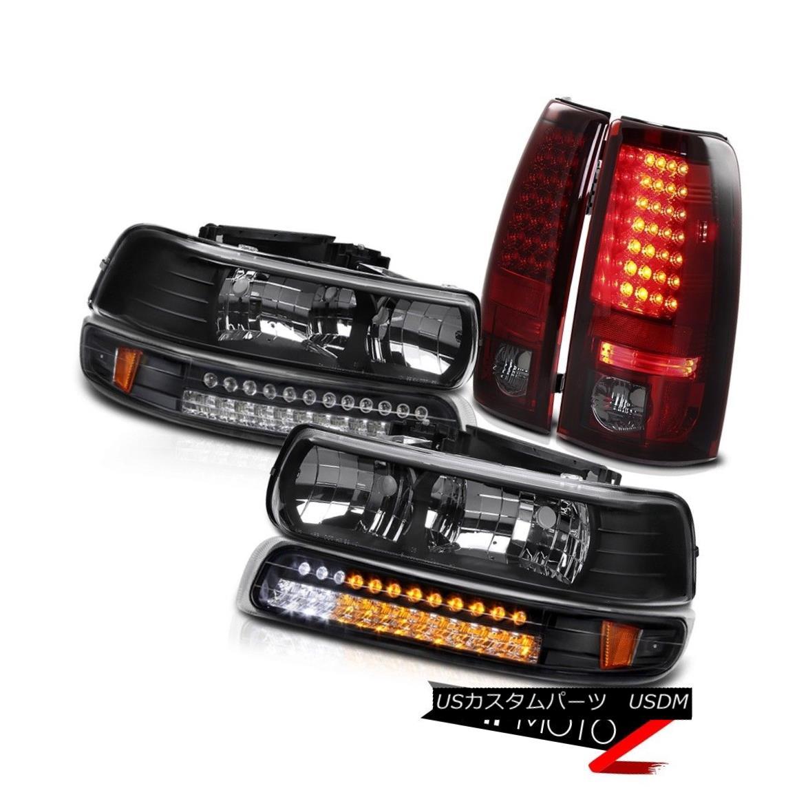 テールライト RED SMOKE LED Rear Brake Lamps LED Front Head Lights Lamps Silverado 99-02 PAIR RED SMOKE LEDリアブレーキランプLEDフロントヘッドライトランプSilverado 99-02ペア