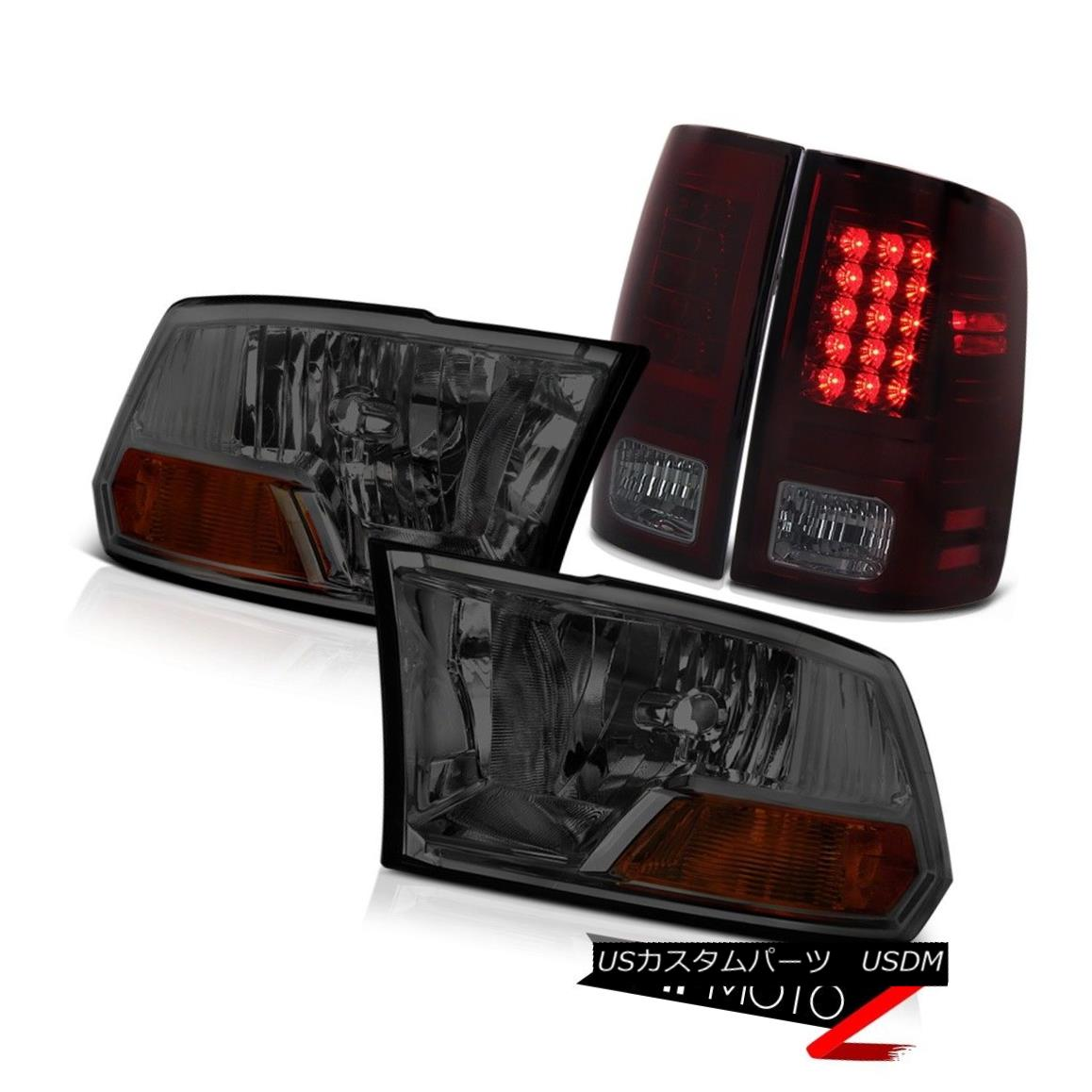 テールライト 2009-2018 Dodge Ram Smoke Red LED Tail Light Headlight LH+RH 2010 2011 2012 2013 2009-2018 Dodge Ram SmokeレッドLEDテールライトヘッドライトLH + RH 2010 2011 2012 2013