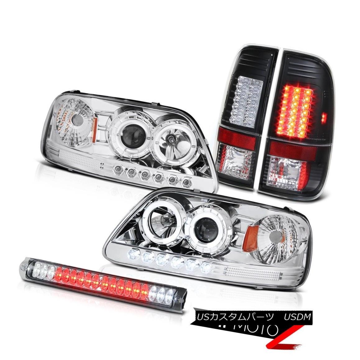 テールライト Halo LED Headlight Black Tail Lamp Brake Cargo Lamp F150 Harley Davidson 97-2003 Halo LEDヘッドライトブラックテールランプブレーキカーゴランプF150 Harley Davidson 97-2003
