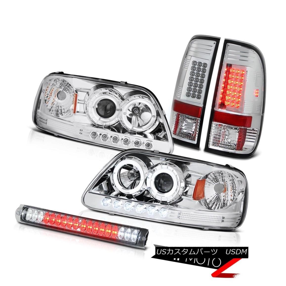 テールライト Headlight Halo DRL LED Chrome Tail Light High Brake Lamp F150 SVT 1999 2000 2001 ヘッドライトHalo DRL LEDクロームテールライトハイブレーキランプF150 SVT 1999 2000 2001