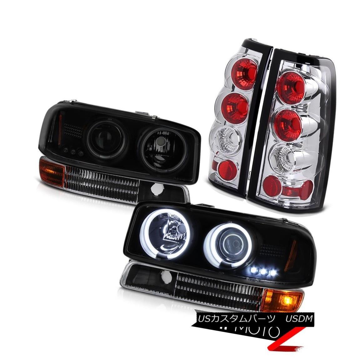 テールライト 99-03 Sierra 6.0L CCFL Ring Headlight Infinity Black Parking Euro Rear Taillamp 99-03 Sierra 6.0L CCFLリングヘッドライトインフィニティブラックパーキングユーロリアテアランプ