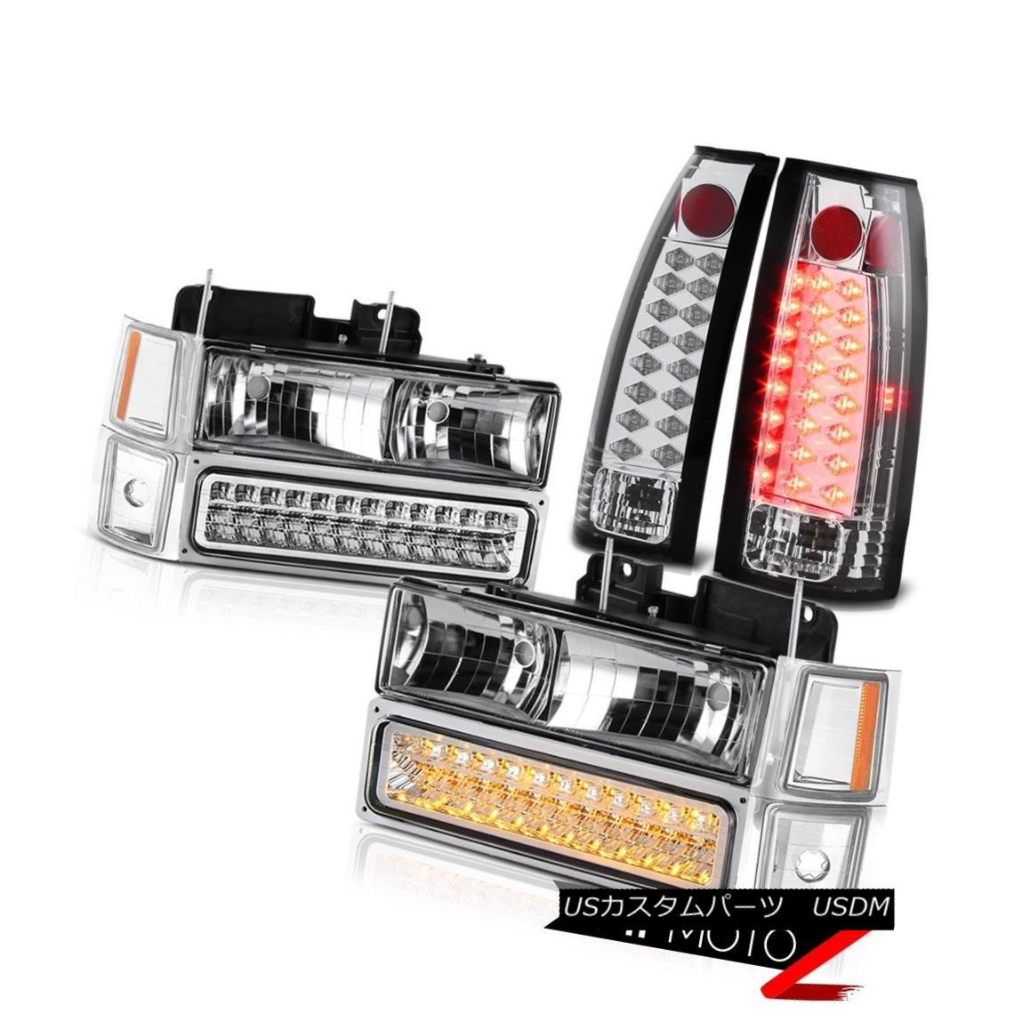 テールライト 1994 1995 1996 1997 1998 Chevy Tahoe Suburban LED Taillights Chrome Headlights 1994年1995年1996年1997年1998年Chevy Tahoe郊外型LEDテールライトクロームヘッドライト