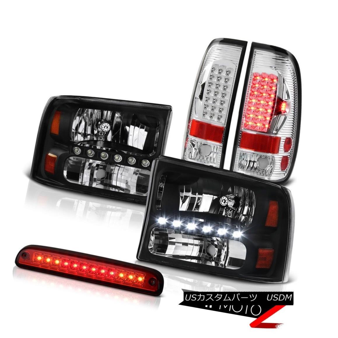 テールライト Black Headlight Roof Brake LED SMD Rear Tail Light 99 00 01 02 03 04 F250 6.8L ブラックヘッドライトルーフブレーキLED SMDリアテールライト99 00 01 02 03 04 F250 6.8L