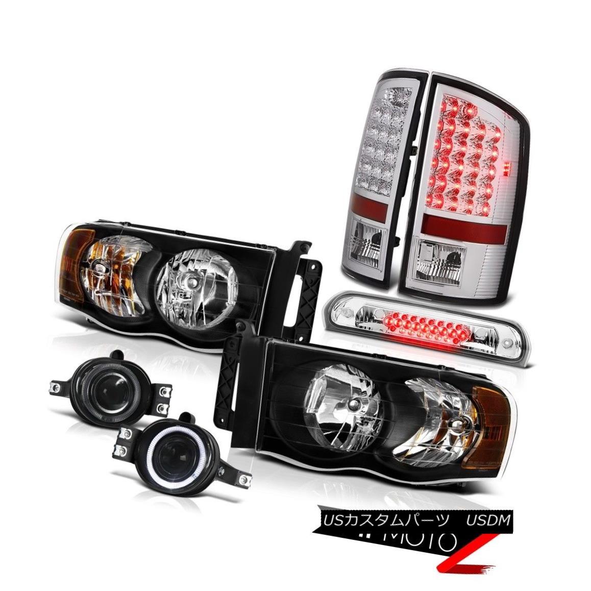 テールライト 02 03 04 05 Ram V6 Clear/Black Headlights LED Brake Taillights Foglamps Euro 3rd 02 03 04 05 Ram V6クリア/ブラックヘッドライトLEDブレーキテールライトFoglamps Euro 3rd