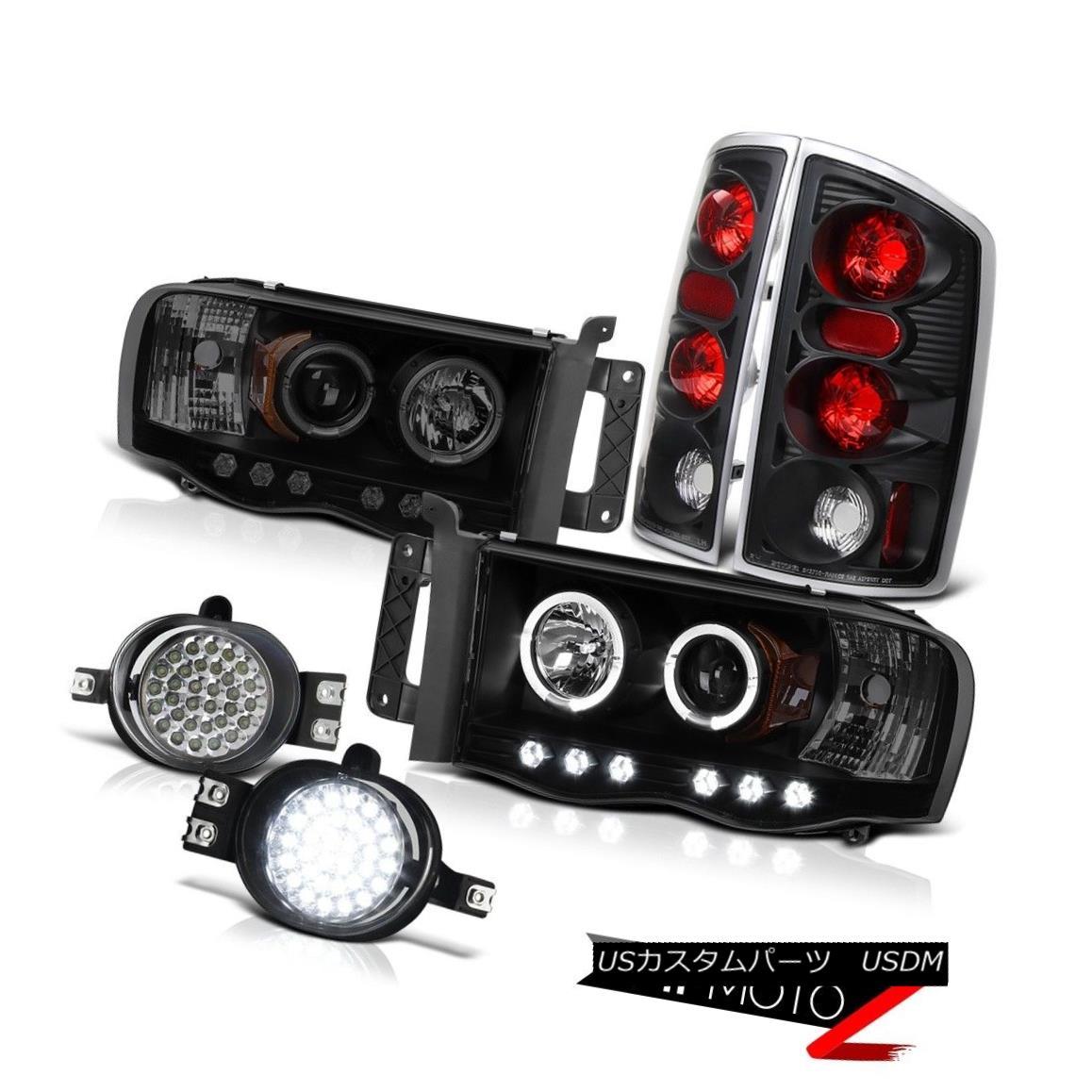 テールライト 02 03 04 05 Ram 1500 ST Black Smoke Halo Headlight Altezza Signal Tail Lamps SMD 02 03 04 05 Ram 1500 STブラックスモークヘイローヘッドライトAltezza信号テールランプSMD