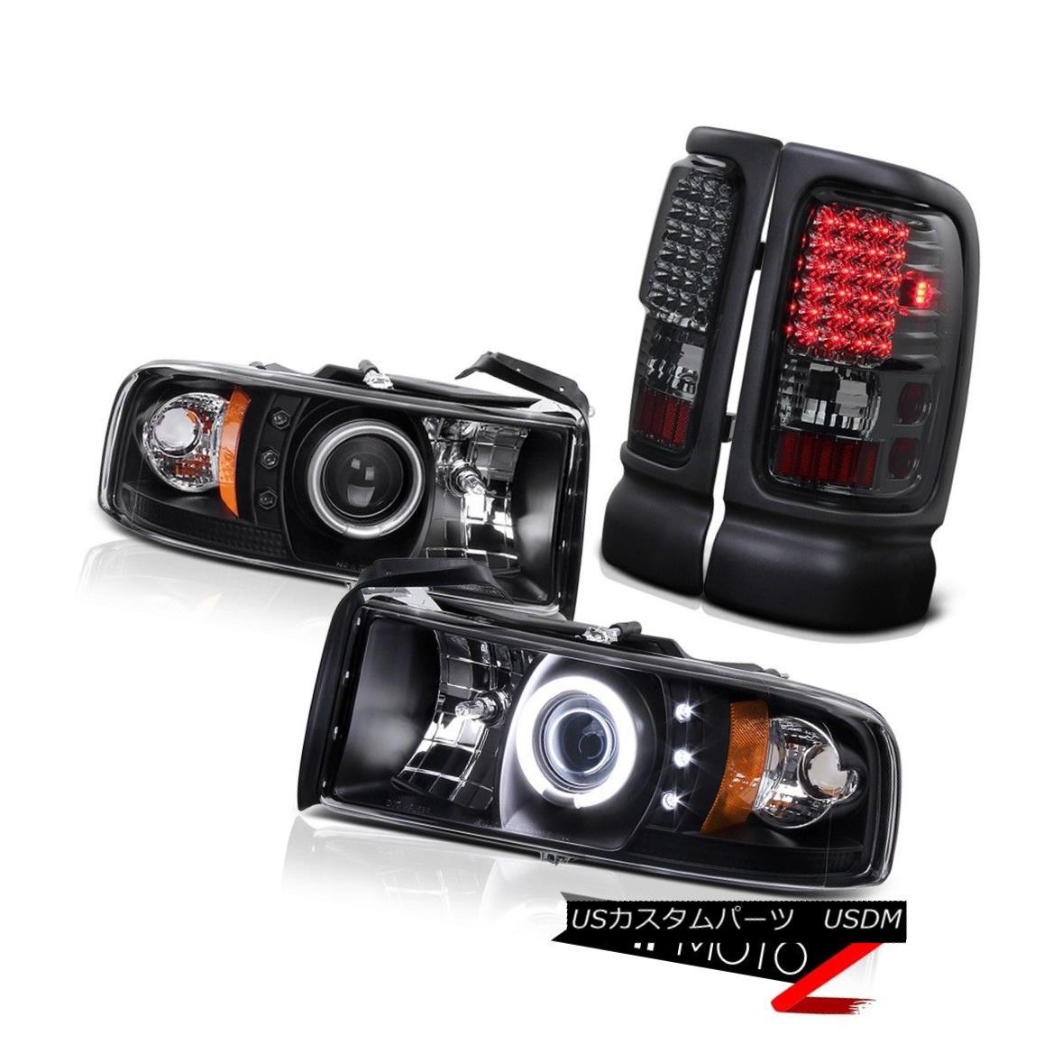 テールライト 94-01 RAM 1500 CCFL Angel Eye Halo Projector Headlight+Smoke Led Tail Light Lamp 94-01 RAM 1500 CCFLエンジェルアイハロープロジェクターヘッドライト+スモーク LEDテールライトランプ