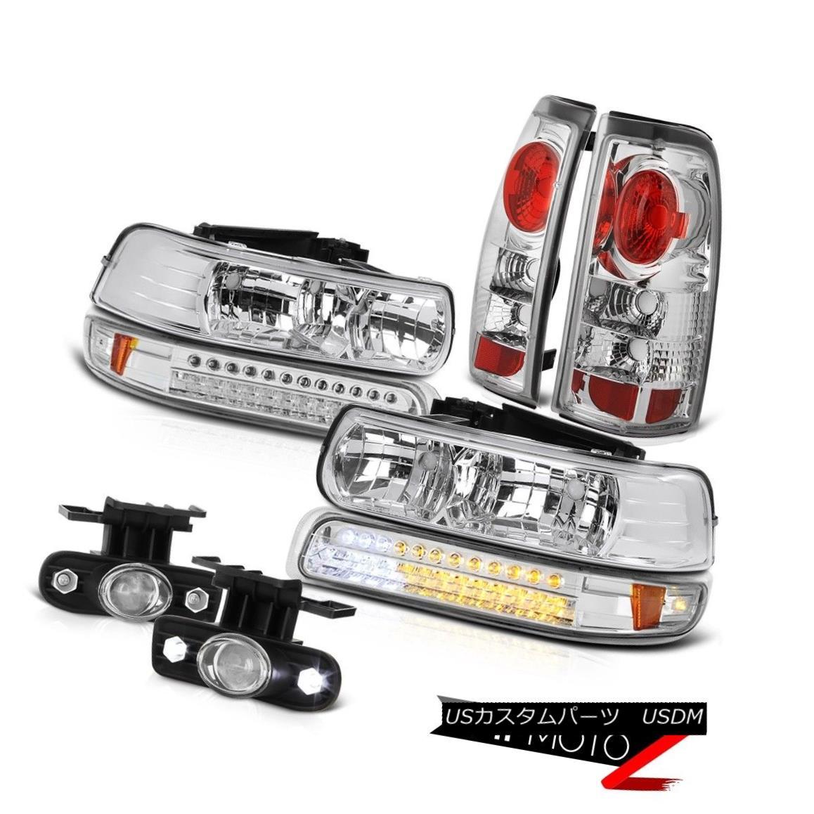 テールライト Clear Headlamps LED Euro Rear Taillamps Glass Projector Fog 99-02 Silverado LS クリアヘッドランプLEDユーロリアタイヤランプガラスプロジェクターフォグ99-02 Silverado LS