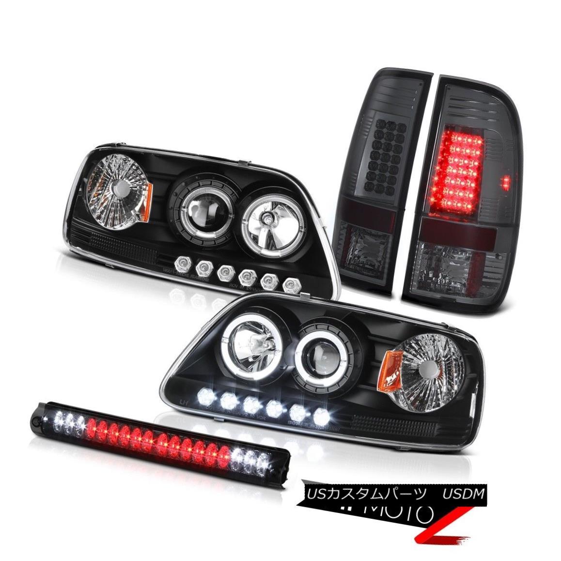 テールライト Projector Black Headlight 2001 2002 03 F150 LED Bulb Tail Light Brake Cargo Lamp プロジェクターブラックヘッドライト2001 2002 03 F150 LEDバルブテールライトブレーキカーゴランプ