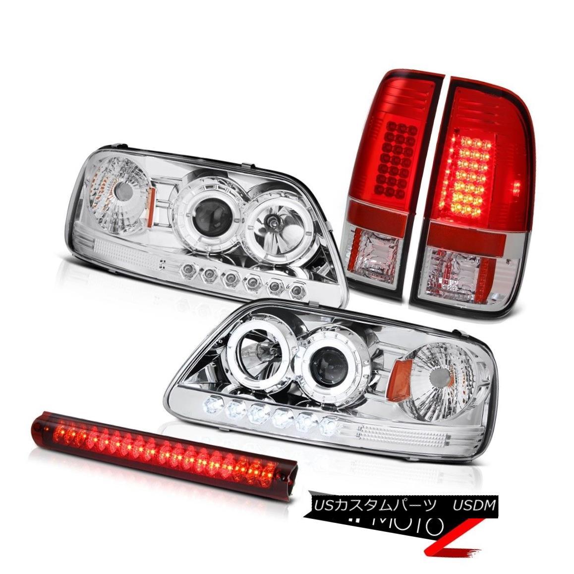 テールライト Chrome Halo LED Headlight 2001 2002 03 F150 Bulb Tail Light Red Third Brake Lamp クロームハローLEDヘッドライト2001 2002 03 F150バルブテールライトレッド第3ブレーキランプ