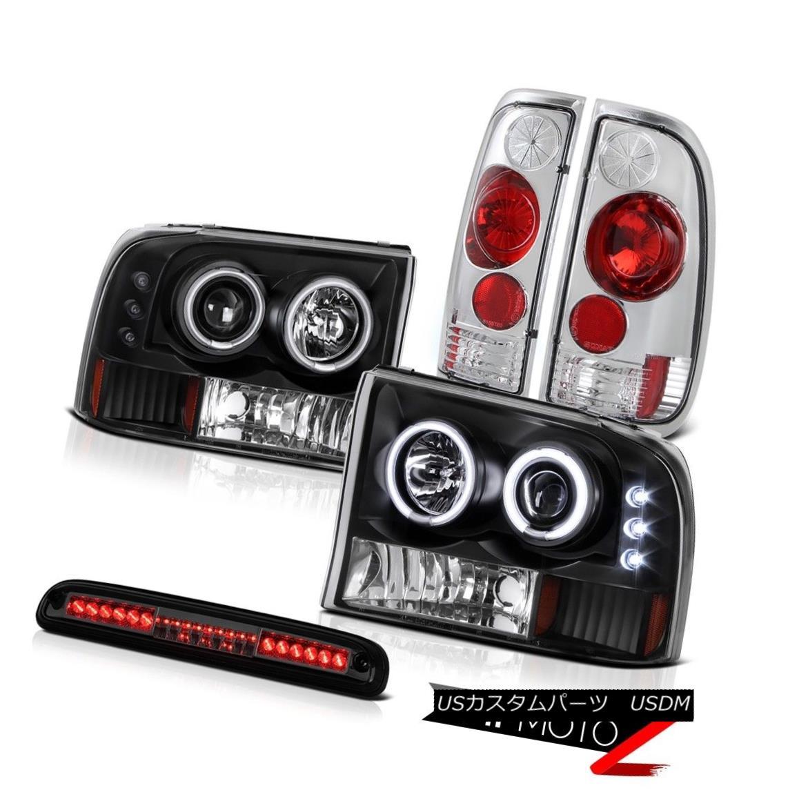 テールライト 99-04 Ford F250 SD CCFL Ringr Headlight Rear Signal Tail Tinted 3rd Brake LED 99-04 Ford F250 SD CCFL RingrヘッドライトリアシグナルテールTinted 3rdブレーキLED