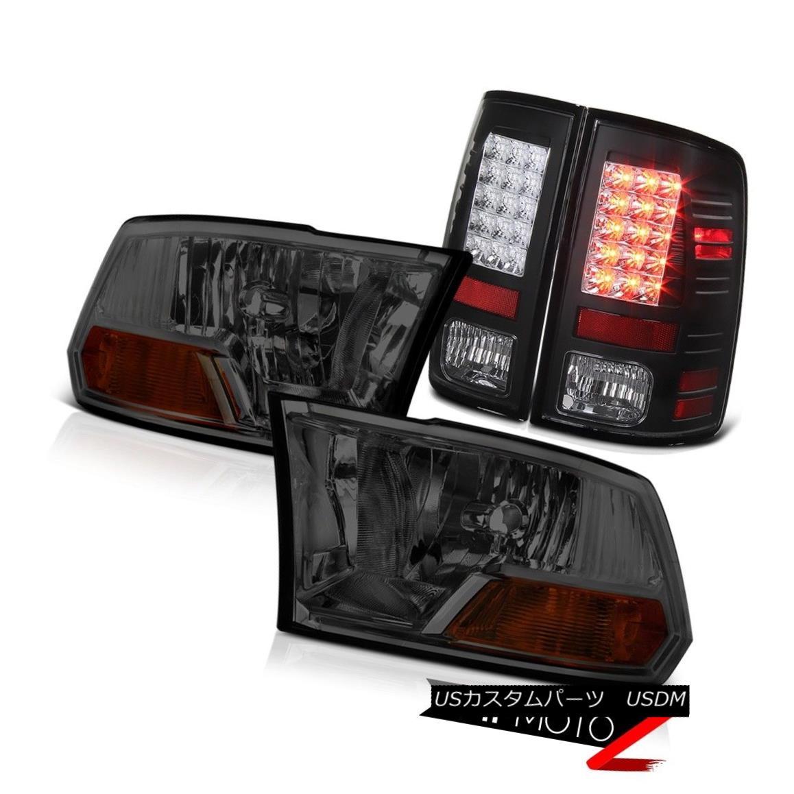 テールライト 09-18 Dodge Ram 1500 Smoke Headlight Black LED Tail Lights 10 17 17 17 Ram 2500 09-18ダッジ・ラム1500スモーク・ヘッドライトブラックLEDテール・ライト10 17 17 17 Ram 2500