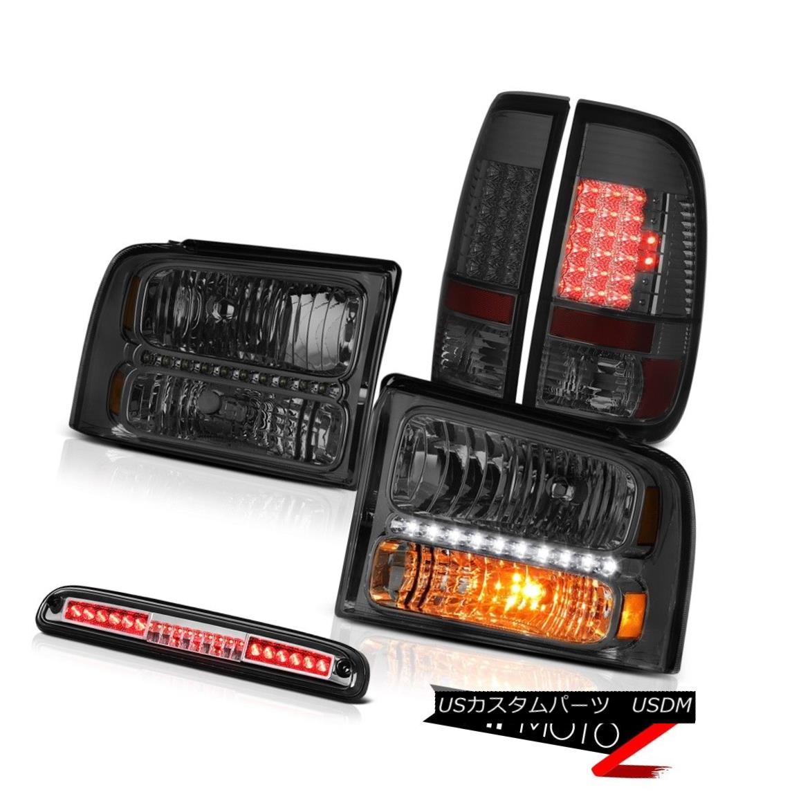 テールライト 05 06 07 Ford F350 SD PAIR Smoke Headlights Smoked LED Taillamp High Stop Chrome 05 06 07 Ford F350 SD PAIRスモークヘッドライトSmoked LED Taillampハイストップクローム