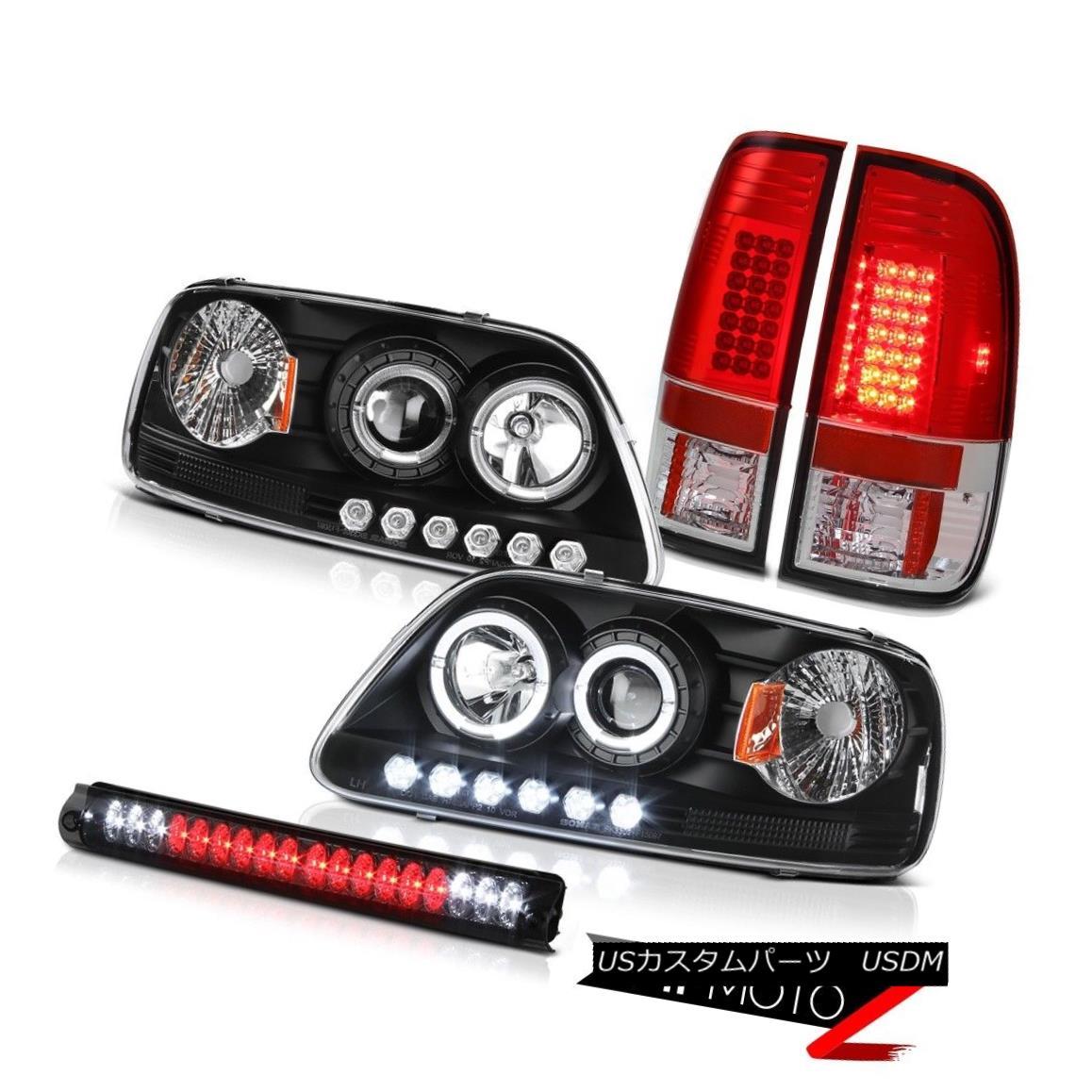テールライト Black LED DRL Headlamp 99-01 F150 Hertiage Sterling Chrome Tail Light Lamp Smoke ブラックLED DRLヘッドランプ99-01 F150ヘリテージスターリングクロムテールライトランプスモーク