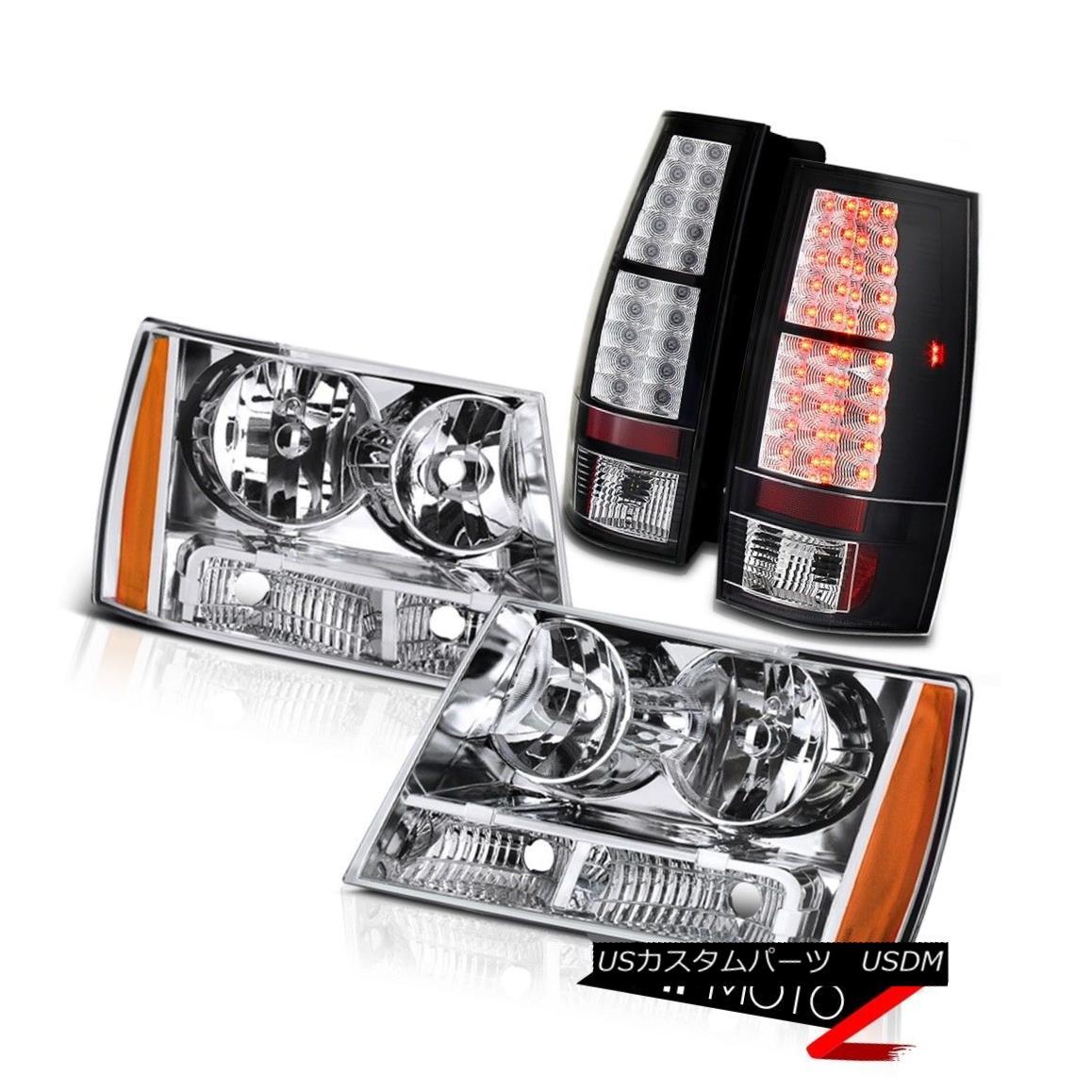 テールライト 2007-2014 Tahoe Suburban LT LS LTZ LED Tail Brake Lamp Chrome Headlight LH+RH 2007-2014 Tahoe郊外LT LS LTZ LEDテールブレーキランプクロームヘッドライトLH + RH