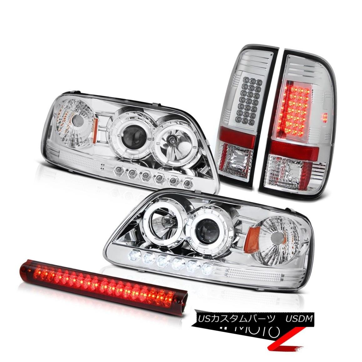 テールライト 2x Halo LED Bulb Headlamp Brake Lamp Tail Light Red 3rd Lamp 1999 2000 2001 F150 2x Halo LED電球ヘッドランプブレーキランプテールライトレッド3ランプ1999 2000 2001 F150