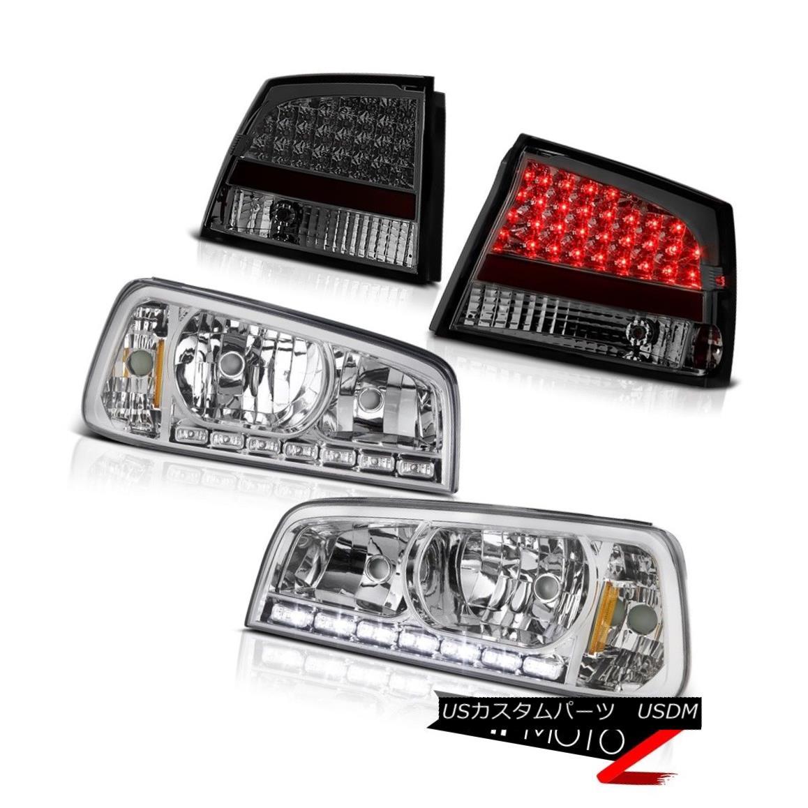 テールライト 09 10 Charger RT 2X Angel Eye Projector Headlights Smoke LED Brake Lamp Lights 09 10充電器RT 2XエンジェルアイプロジェクターヘッドライトスモークLEDブレーキランプライト
