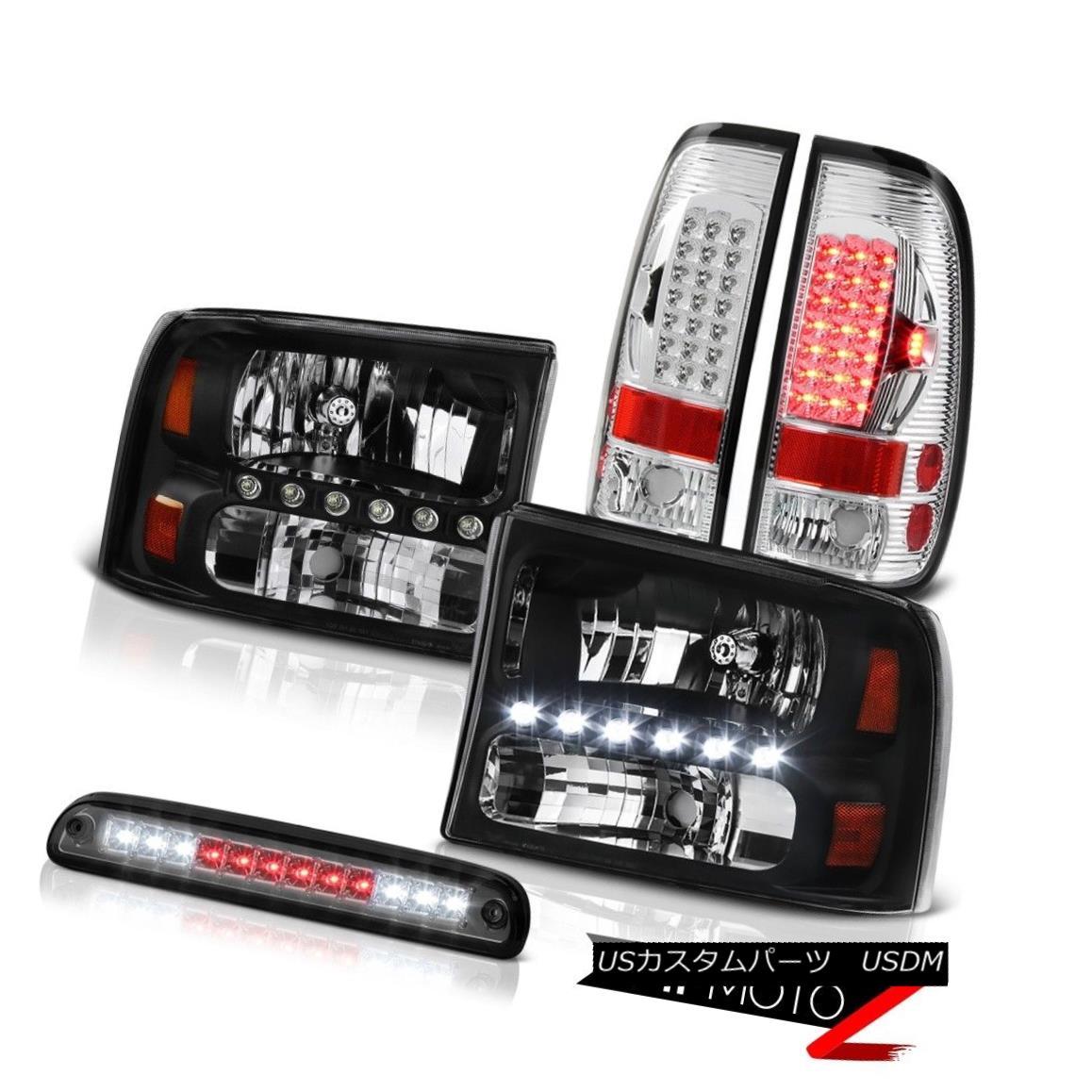 テールライト Black Headlight High Stop LED Smoke Bright Tail Light 99 00 01 02 03 04 F250 XLT ブラックヘッドライトハイストップLEDスモークブライトテールライト99 00 01 02 03 04 F250 XLT
