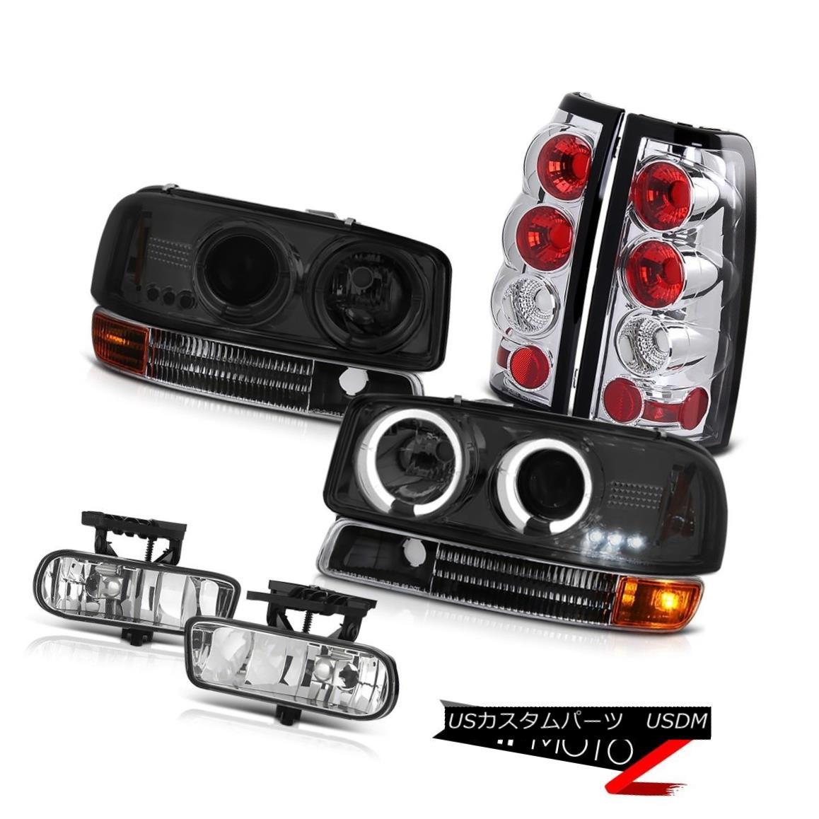 テールライト Smoke Halo Headlights Black Bumper Reverse Brake Lamps Fog 1999-2003 Sierra WT スモークハローヘッドライトブラックバンパー逆ブレーキランプ1999-2003 Sierra WT