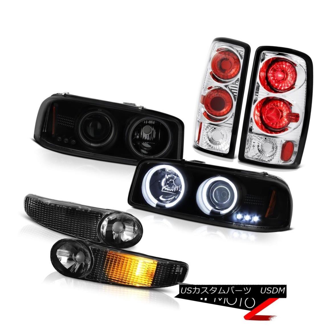 テールライト BRIGHTEST CCFL Halo Headlights Bumper Signal Rear Brake Tail Lights 00-06 Yukon BRIGHTEST CCFL Haloヘッドライトバンパーシグナルリアブレーキテールライト00-06ユーコン