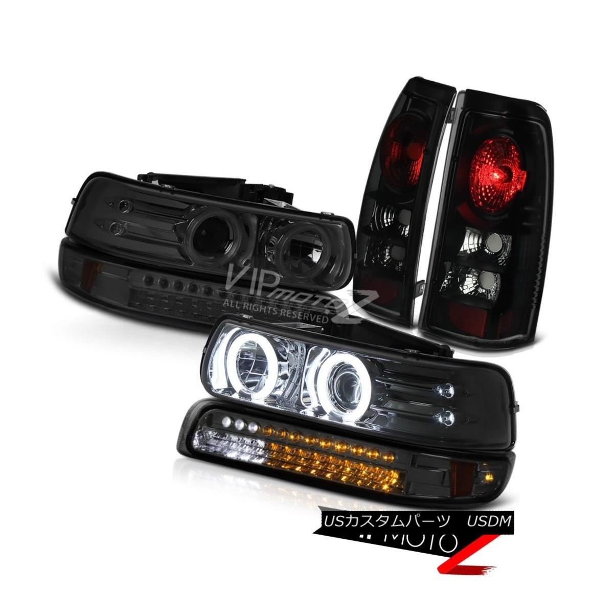 テールライト 1999-2002 Chevy Silverado CCFL Angel Eye Headlight Parking Brake Light Tail Lamp 1999-2002シボレーシルバラードCCFLエンジェルアイヘッドライトパーキングブレーキライトテールランプ