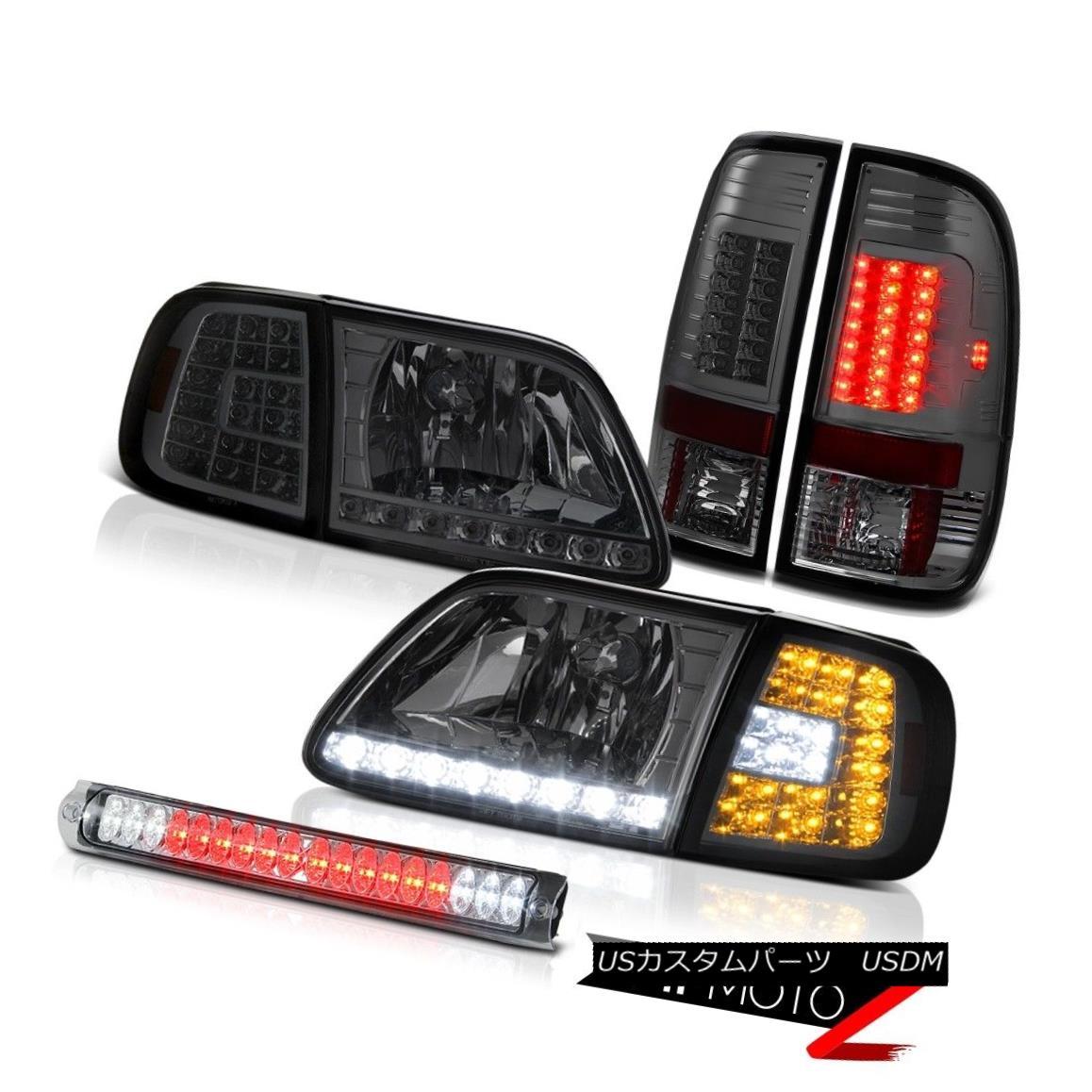 テールライト 97-03 F150 4.6L Corner SMD DRL Headlight Smoke SMD Taillamps Roof Stop LED Clear 97-03 F150 4.6LコーナーSMD DRLヘッドライトスモークSMDタイルランプルーフストップLEDクリア