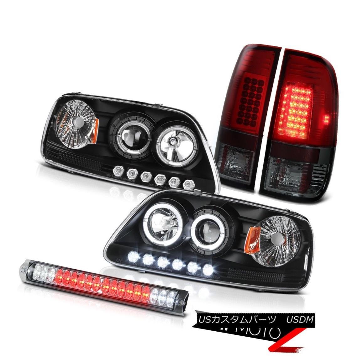 テールライト LED Headlamp Dark Red Brake Tail Light 3rd Light Chrome F150 5.4L 1999 2000 2001 LEDヘッドランプダークレッドブレーキテールライト3rdライトクロームF150 5.4L 1999 2000 2001