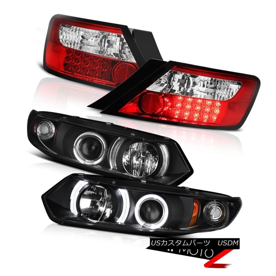 テールライト 06-11 Civic Coupe Mugen Style Black Projector Headlights LED Brake Tail Lights 06-11シビッククーペミュゲスタイルブラックプロジェクターヘッドライトLEDブレーキテールライト