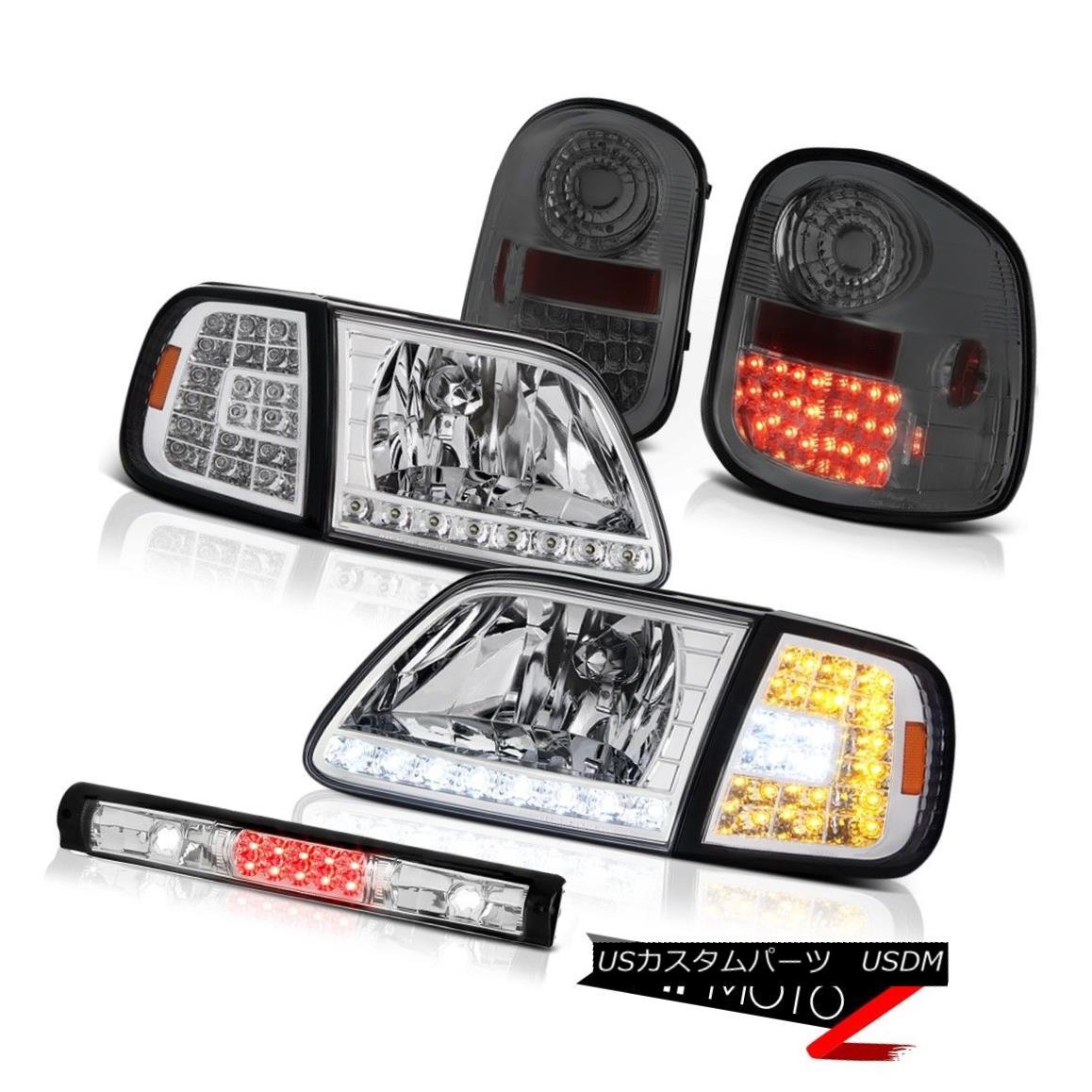 テールライト LED Headlights Smoked Taillamps Roof Brake Cargo 97-03 F150 Flareside Hertiage LEDヘッドライトスモークテールランプ屋根ブレーキカーゴ97-03 F150 Flareside Heritage
