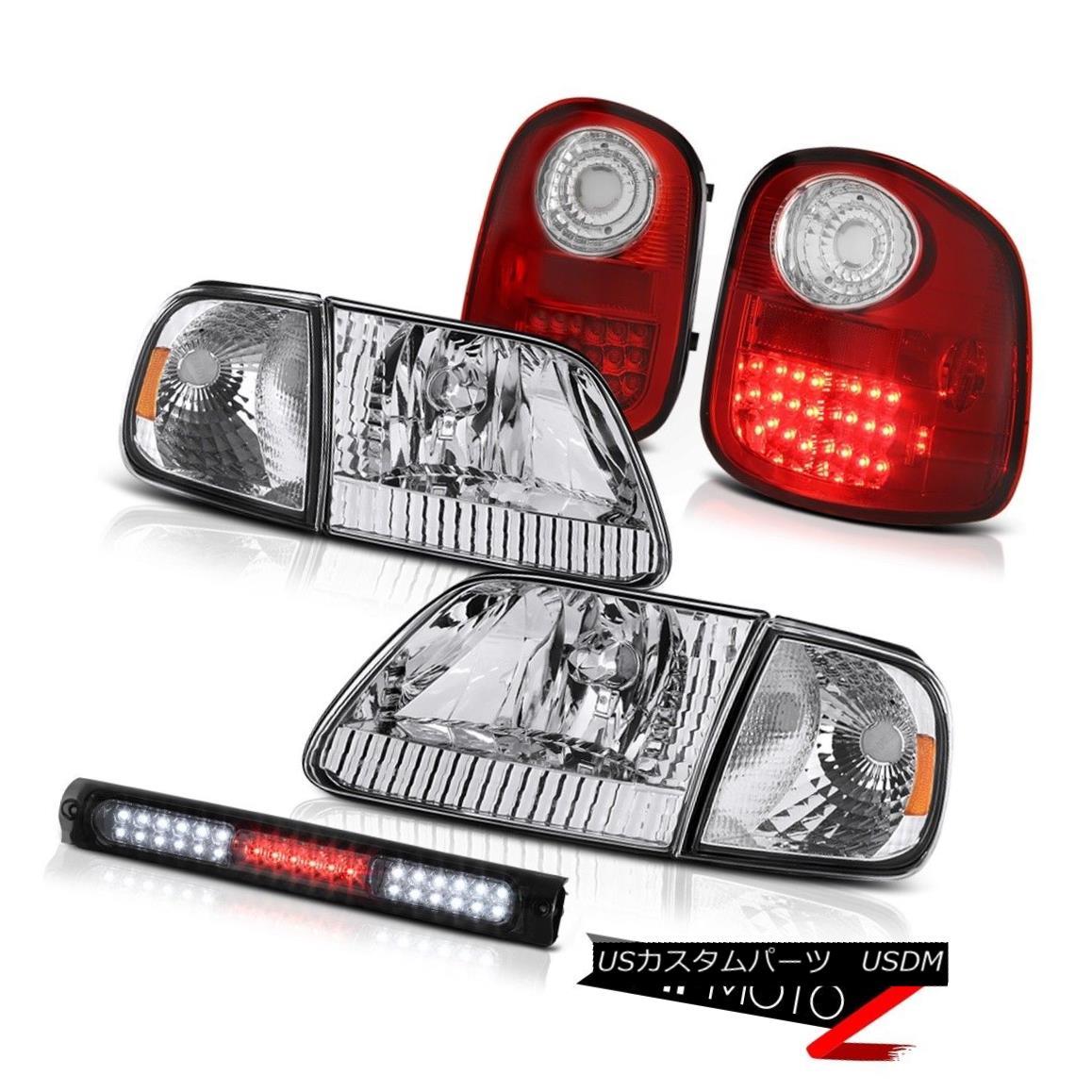 テールライト 1997-2003 F150 Flareside Headlight Parking Red LED Signal Tail Light Brake Cargo 1997?2003年F150フラレイドヘッドライトパーキングレッドLEDシグナルテールライトブレーキカーゴ