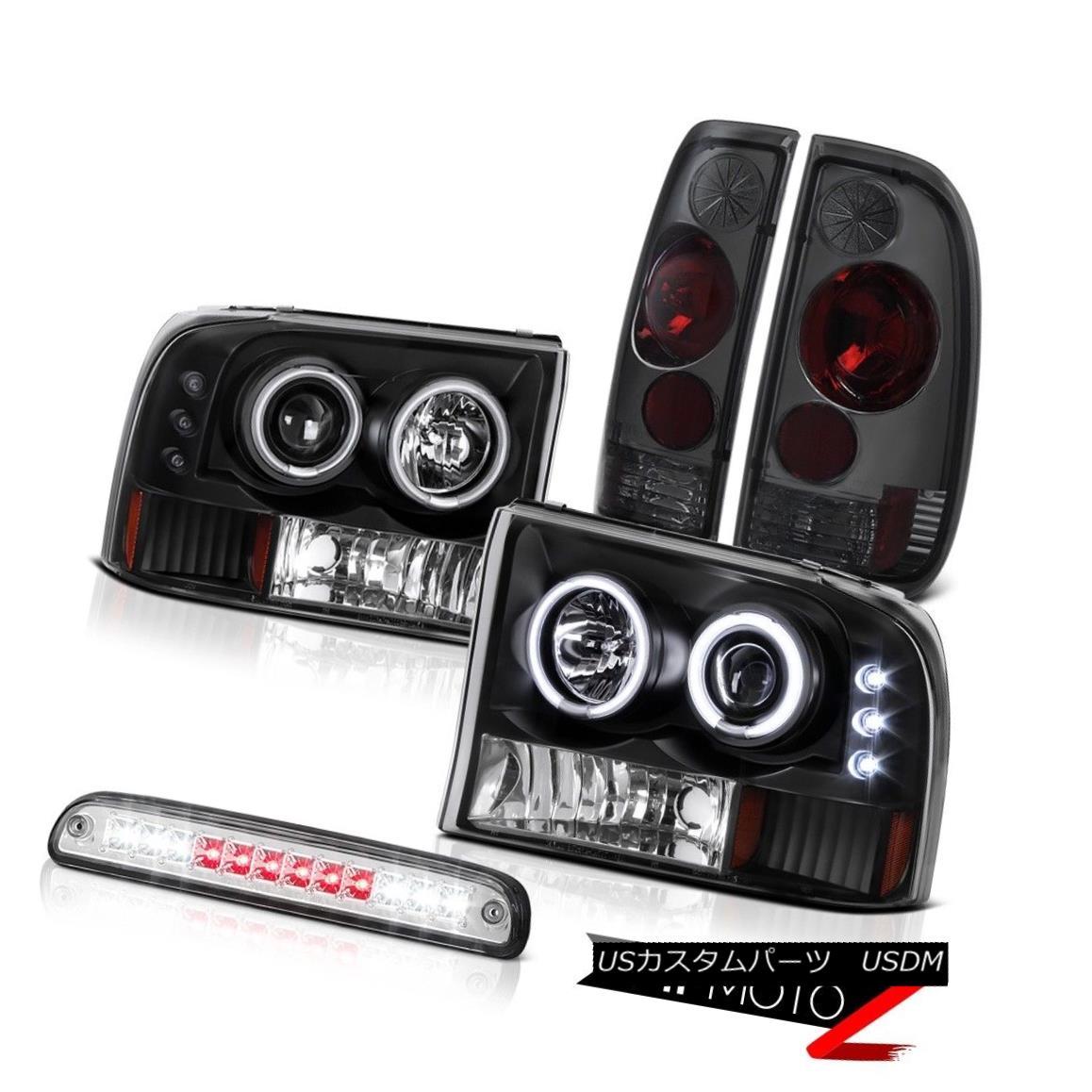 テールライト Projector Headlights Chrome 3rd Brake LED Tail Lamps 1999-2004 F250 Turbo Diesel プロジェクターヘッドライトChrome 3rdブレーキLEDテールランプ1999-2004 F250ターボディーゼル