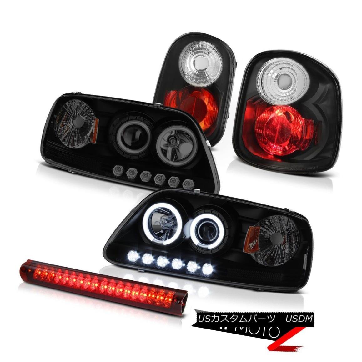 テールライト Halo CCFL Angel Eye Headlights Tail Lights 3rd Brake lamp Red LED 01-03 F150 XLT Halo CCFL Angel Eyeヘッドライトテールライト3rdブレーキランプRed LED 01-03 F150 XLT