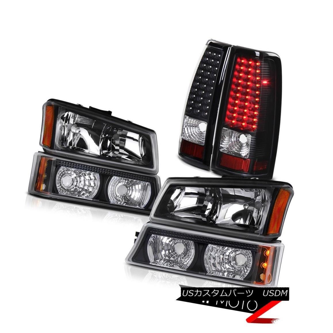 テールライト Black Headlamps Signal Parking Bumper Lamp 2003-2006 Silverado SS LED Taillights ブラックヘッドランプ信号駐車場バンパーランプ2003-2006シルバラードSS LEDの曇り