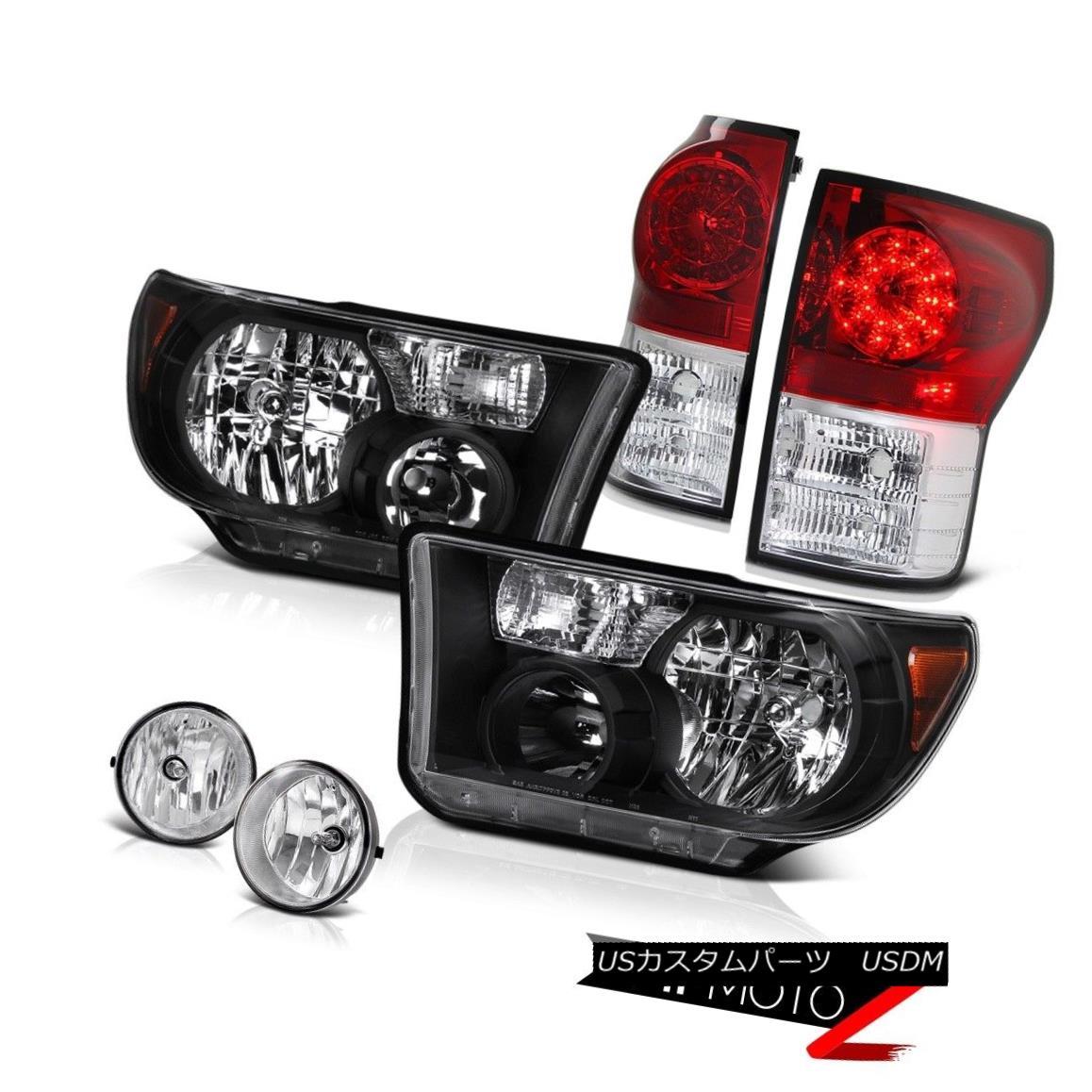 テールライト L+R Black Diamond Headlight+Led Tail Lamp+Fog Light 07-2013 Toyota Tundra L + Rブラックダイヤモンドヘッドライト+ Ledテールランプ+フォグライト07-2013 Toyota Tundra