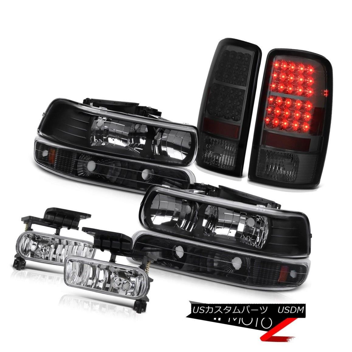 テールライト Left Right Headlights Black Parking Smoke LED Brake Fog 2000-2006 Suburban 8.1L 左の右のヘッドライトブラック駐車場煙LEDブレーキ霧2000-2006郊外8.1L