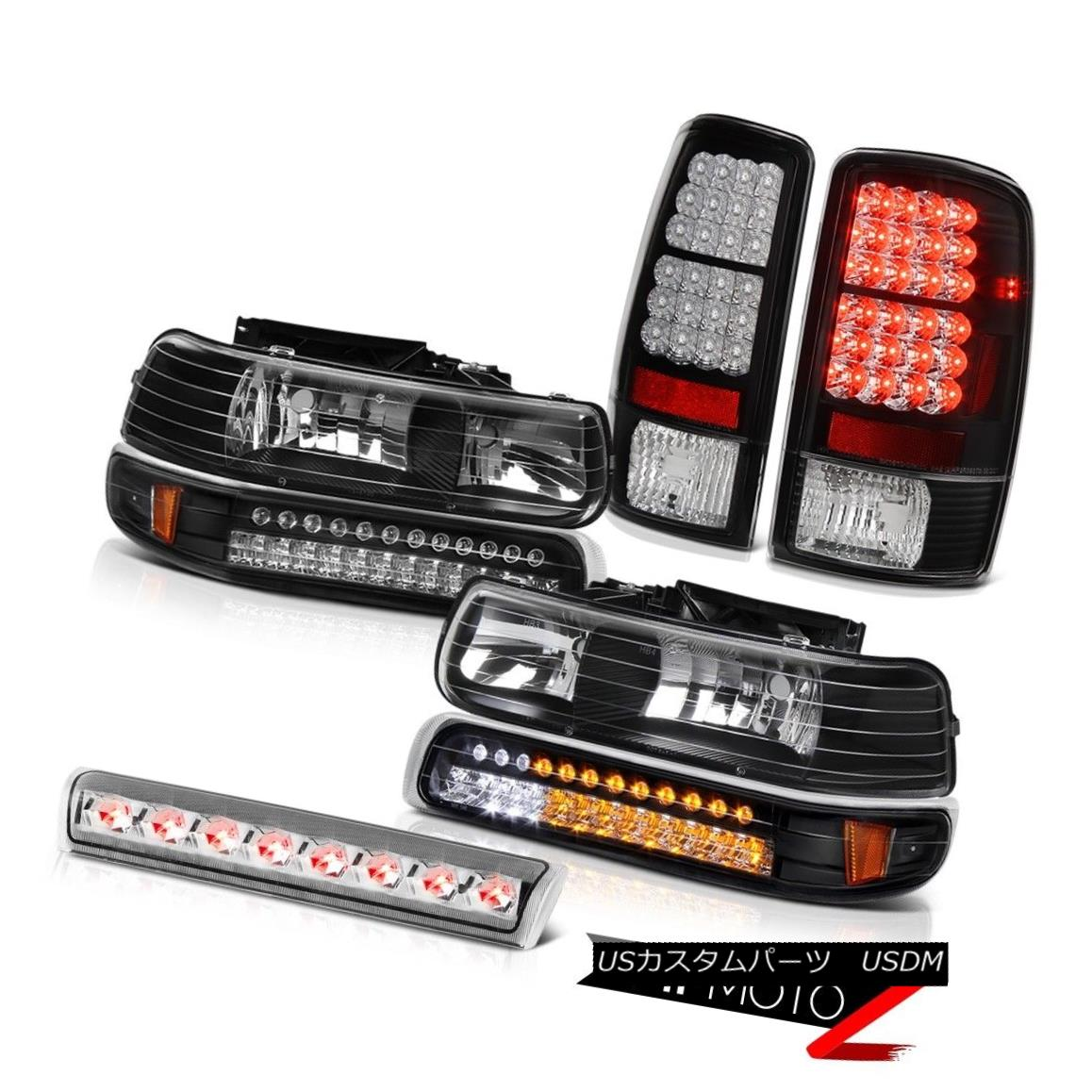 テールライト 00-06 Suburban 5.7L LED Bumper+Headlights Black Taillamps High Roof Stop Chrome 00-06郊外5.7L LEDバンパー+ヘッドリッグ htsブラックタイラーアンプ高屋根ストップクローム