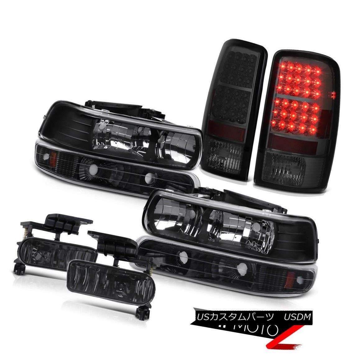 テールライト L+R Black Headlights Signal Smoked L.E.D Taillamps Foglamps 2000-2006 Tahoe 4.8L L + Rブラックヘッドライト信号スモークL.E.DタイルランプFoglamps 2000-2006タホ4.8L