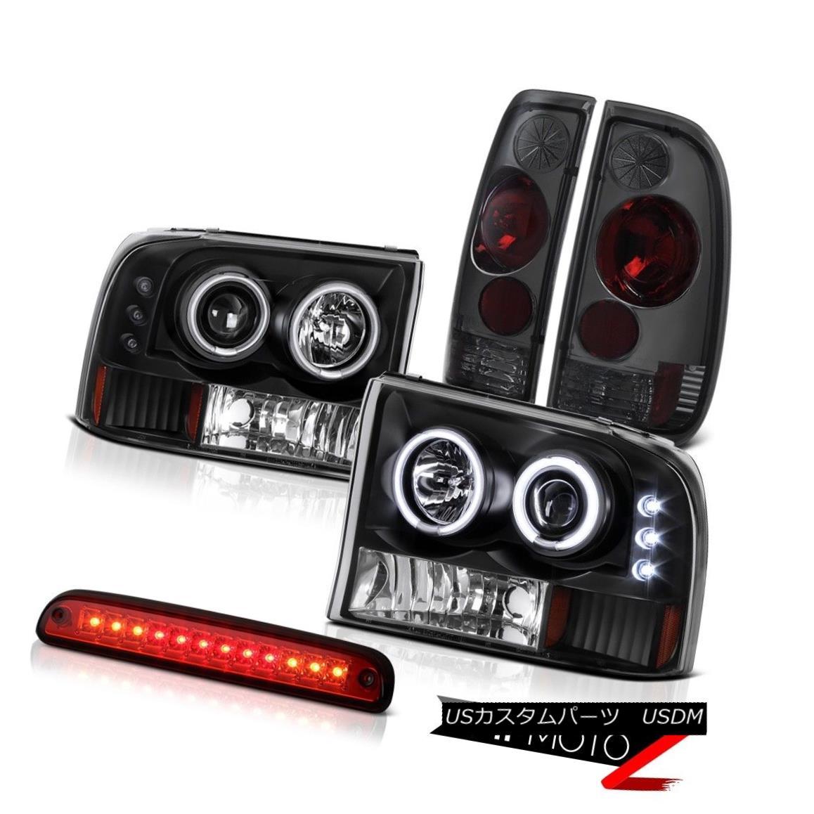 テールライト Black Halor Headlight High Brake Rear Signal TailLight 99-04 F350 Turbo Diesel ブラックハローヘッドライトハイブレーキリアシグナルテールライト99-04 F350ターボディーゼル