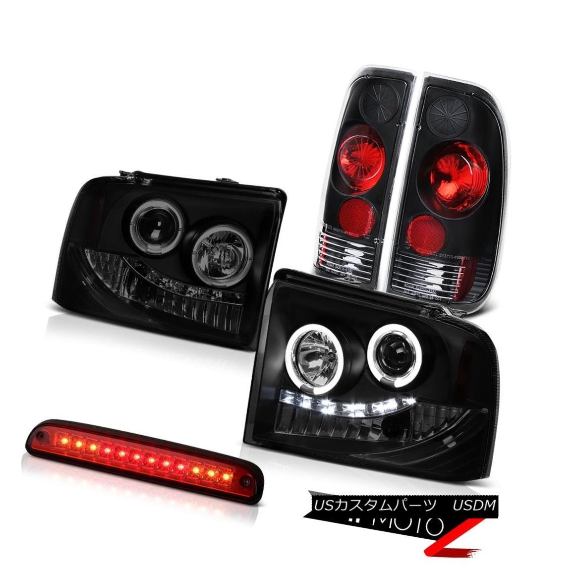 テールライト L.E.D Projector DRL Headlights Black Tail Lamp High Stop LED 2005-2007 F250 6.8L L.E.DプロジェクターDRLヘッドライトブラックテールランプハイストップLED 2005-2007 F250 6.8L