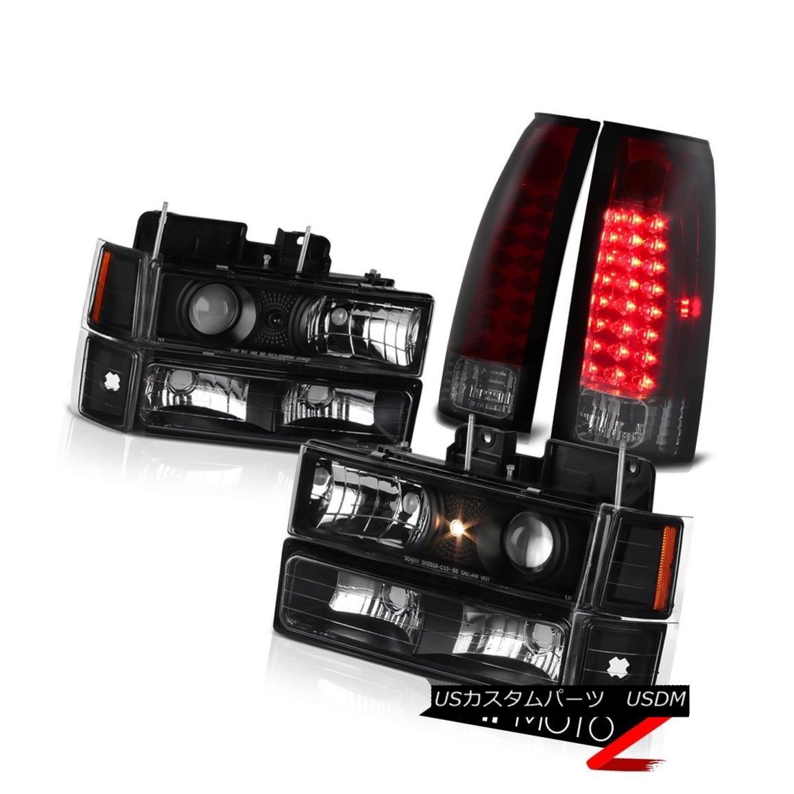 テールライト 1994-1998 Chevy Silverado Suburban Tahoe Red Smoke LED Tail Light Head Lights 1994-1998シボレーシルバラード郊外のタホ赤煙LEDテールライトヘッドライト