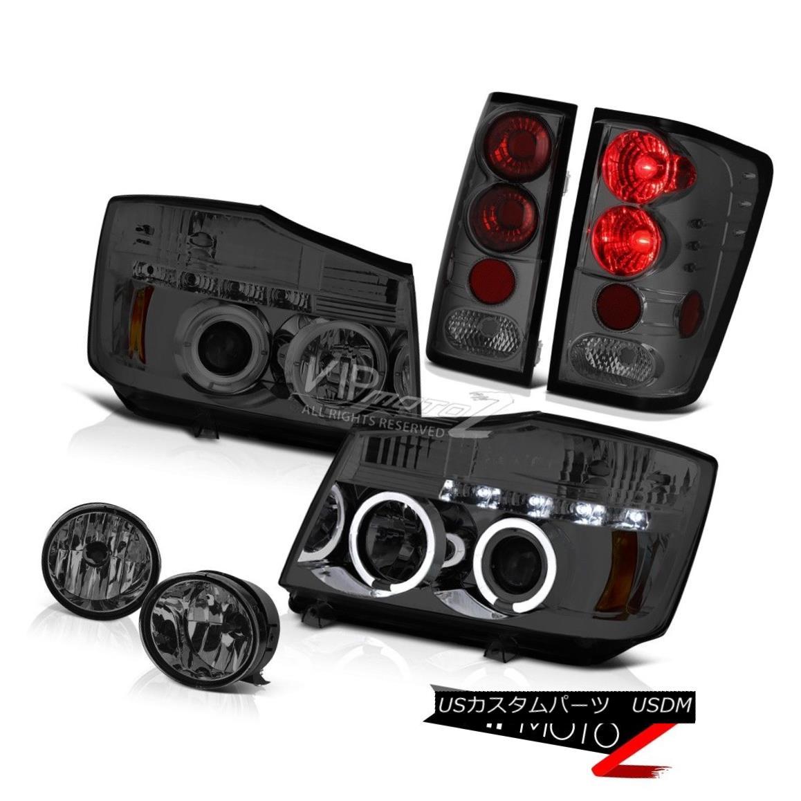 Eye Driving 2004-2015 テールライト For Red Light Headlight SL 2004年?2015年Titan Tail Titan Fog SLヘッドライトヘイローエンジェルアイ煙レッドテールライトドライビングフォグ Smoke Angel Halo
