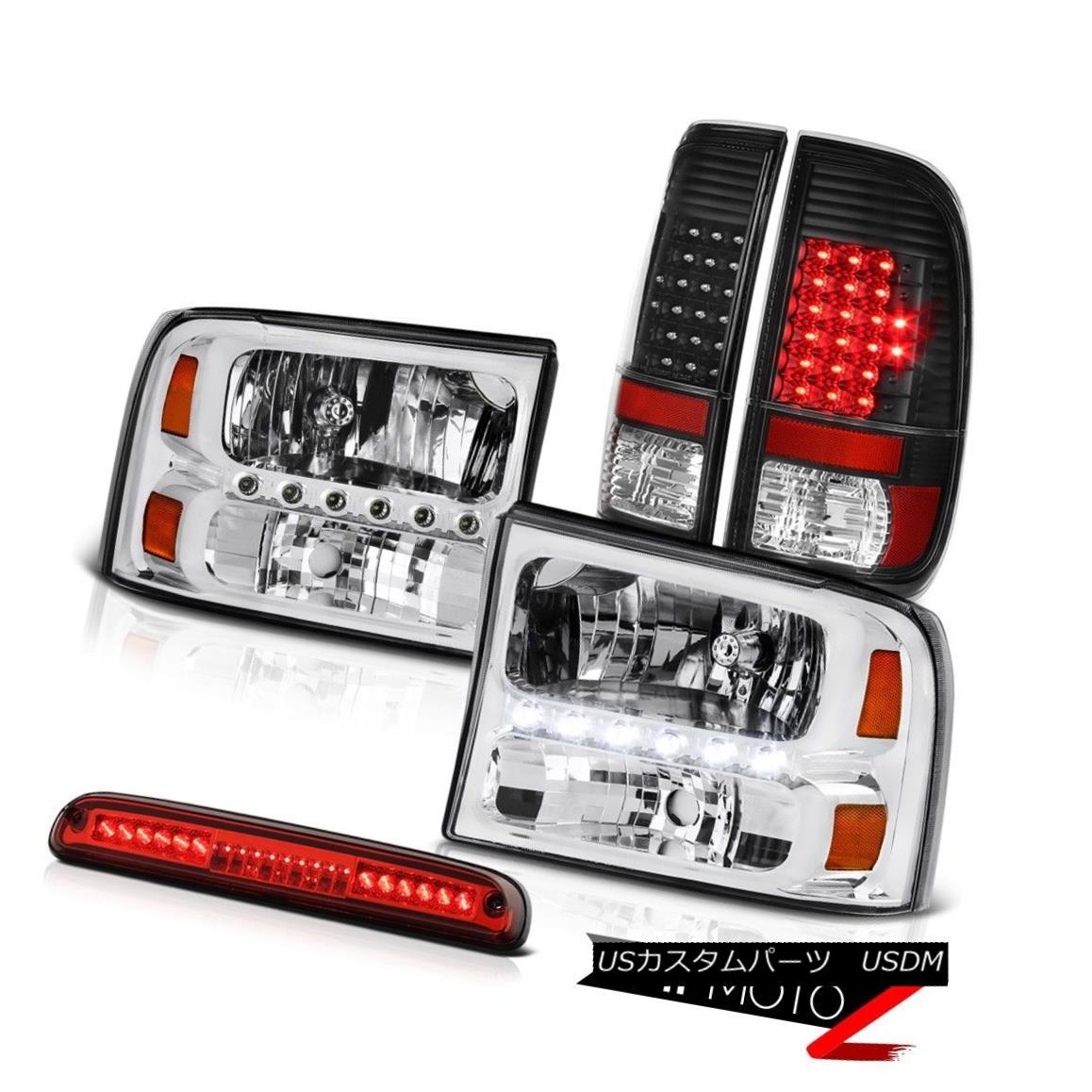 テールライト 99 00 01 02 03 04 F250 XL Clear Headlights SMD Brake Tail Lights Roof LED Red 99 00 01 02 03 04 F250 XLクリアヘッドライトSMDブレーキテールライトルーフLED赤