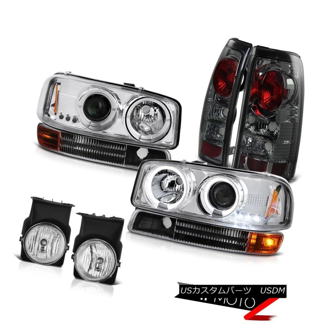テールライト Halo LED Headlight Infinity Black Bumper Tail light Foglight 2003 Sierra 4.3L V6 Halo LEDヘッドライトインフィニティブラックバンパーテールライトFoglight 2003 Sierra 4.3L V6